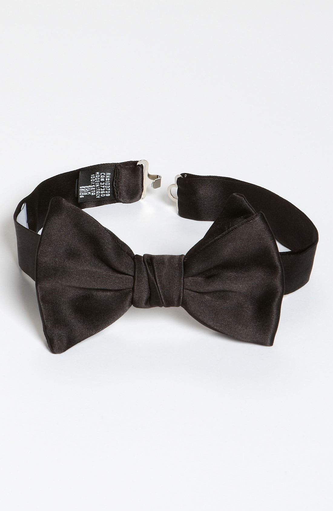 Alternate Image 1 Selected - Armani Collezioni Solid Black Silk Bow Tie