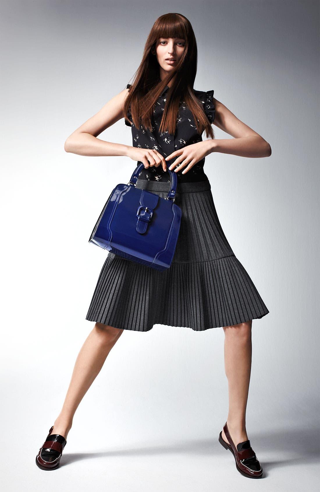 Alternate Image 8  - Marni Edition Pleated Mélange Flannel Skirt