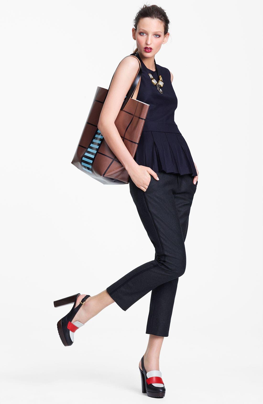 Alternate Image 8  - Marni Edition Crop Straight Leg Flannel Trousers