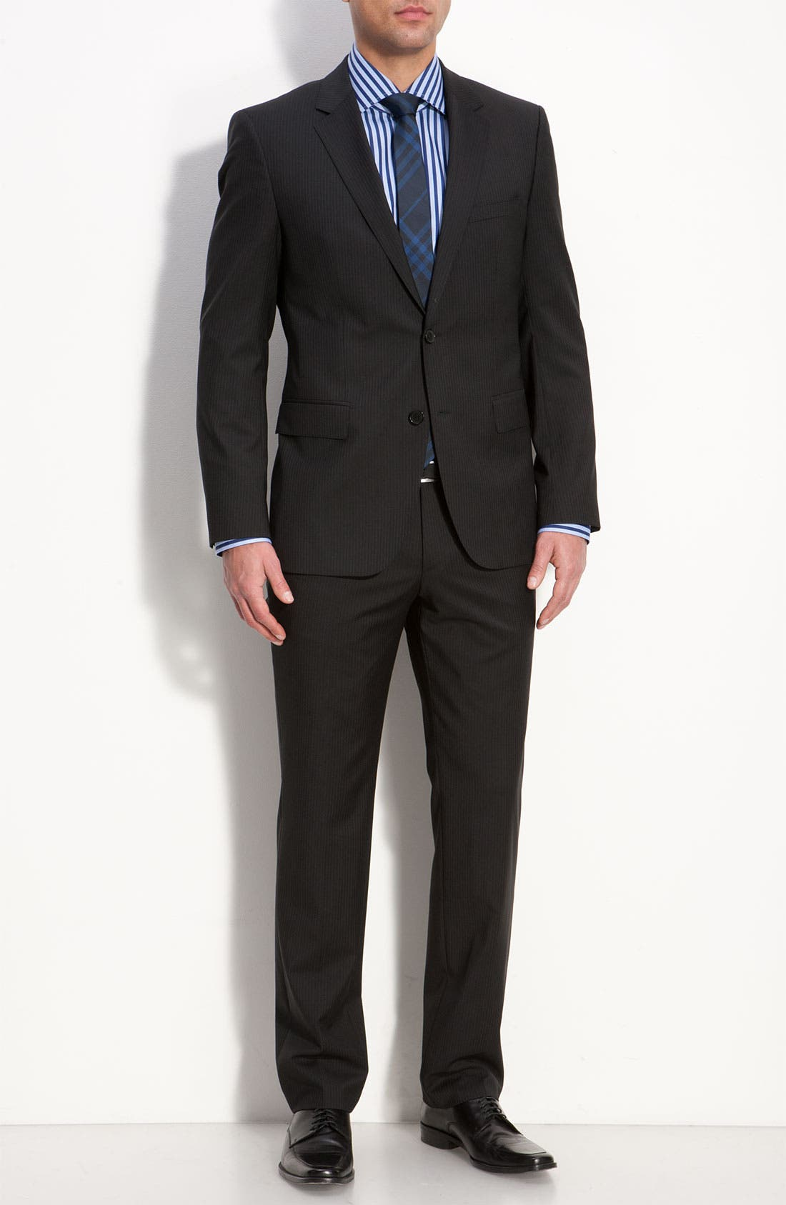 Alternate Image 2  - BOSS Black 'James/Sharp' Trim Fit Wool Suit