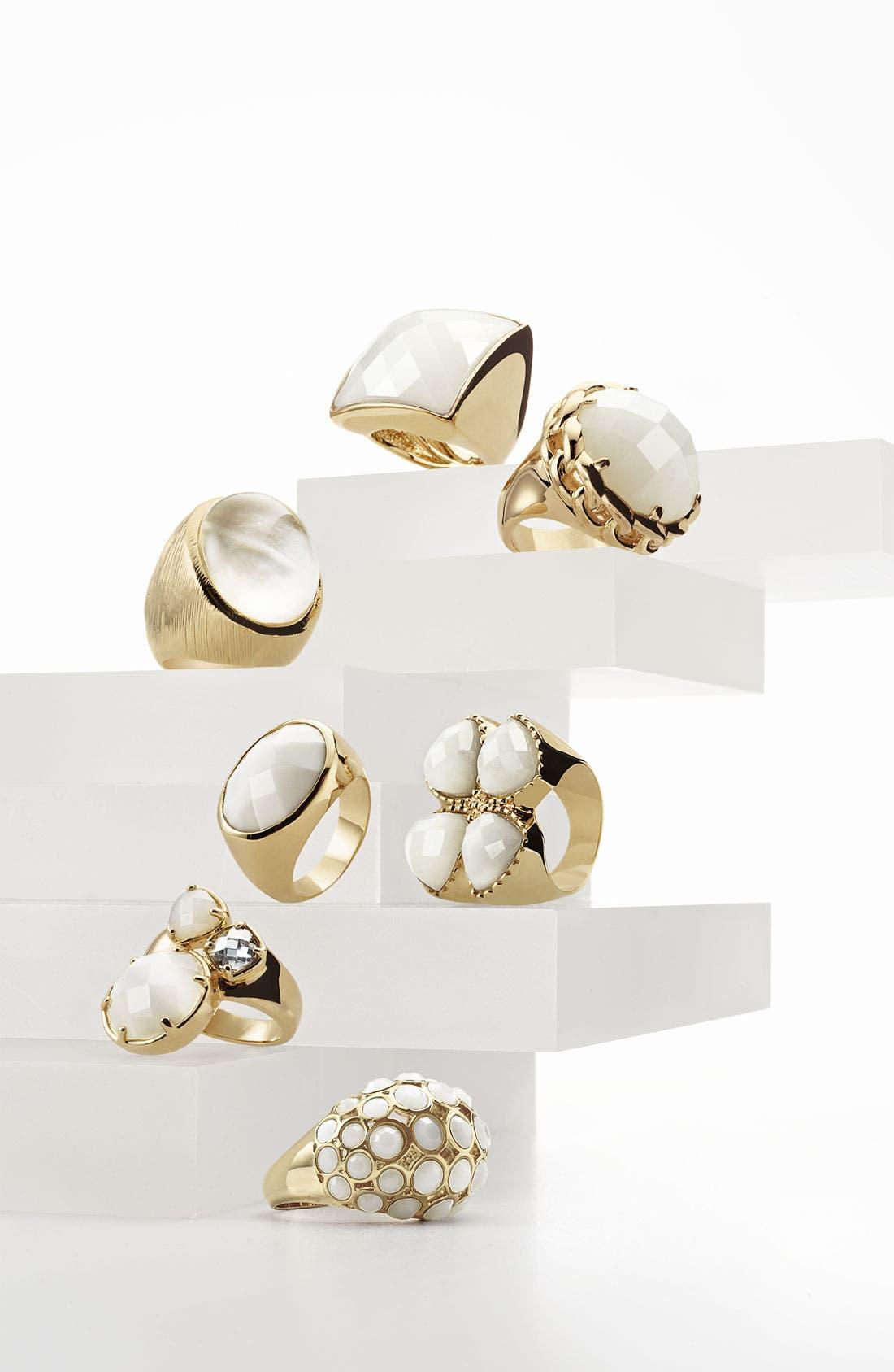 Alternate Image 2  - Ariella Collection 'White Hot' Multi Stone Dome Ring