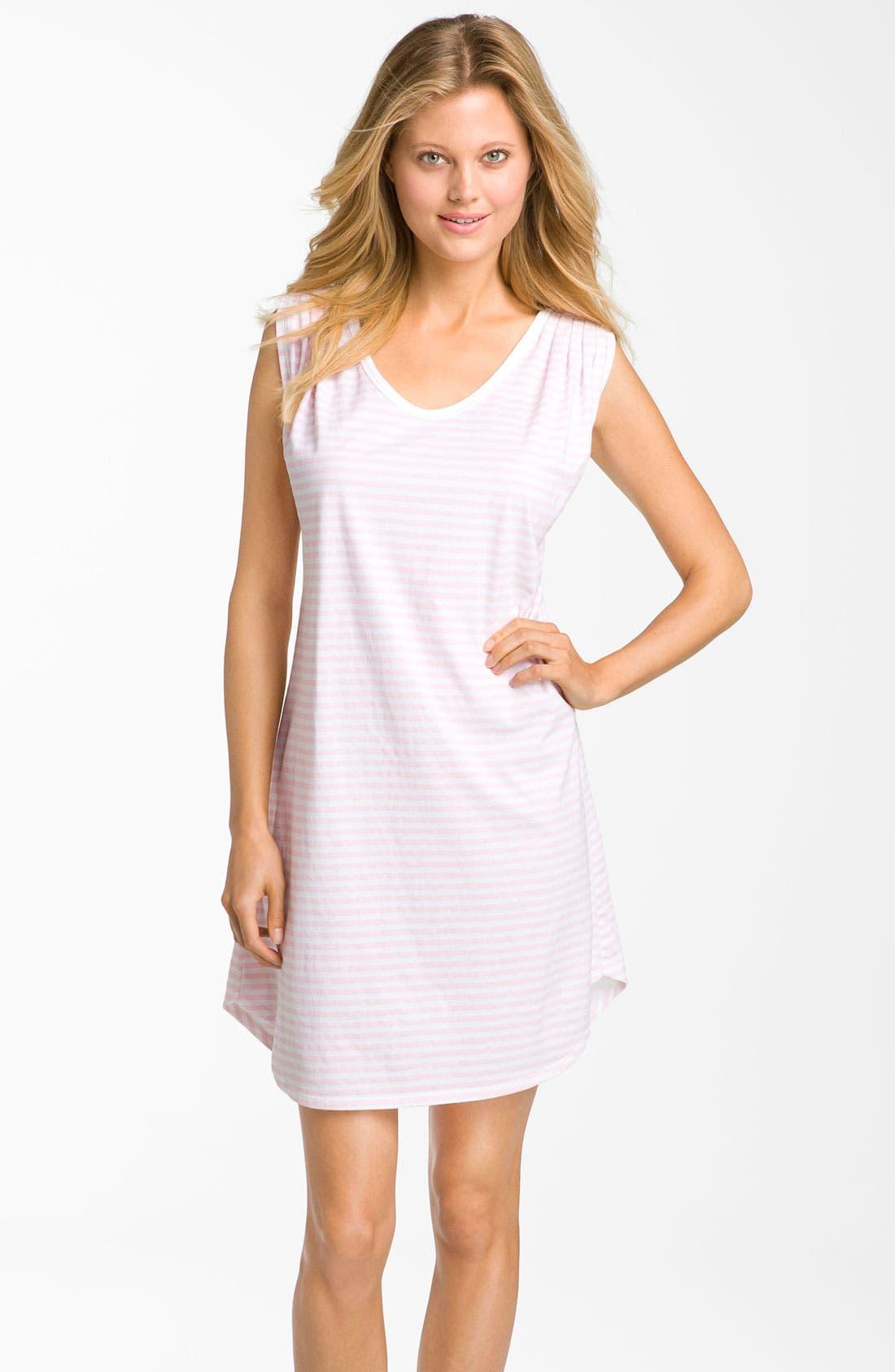 Alternate Image 1 Selected - Carole Hochman Designs 'Coastal Stripe' Sleep Shirt