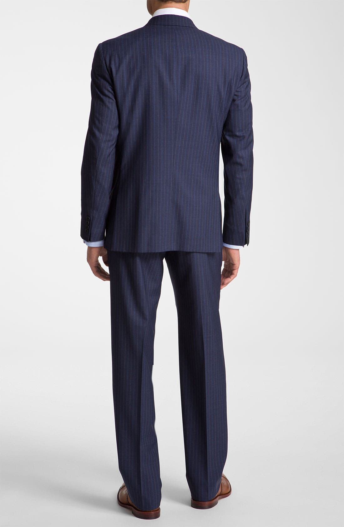 Alternate Image 3  - Robert Talbott Navy Pinstripe Wool Suit