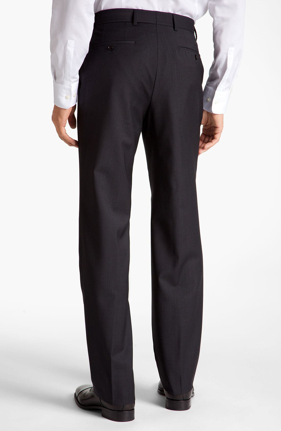 Alternate Image 2  - BOSS Black 'James' Flat Front Trousers