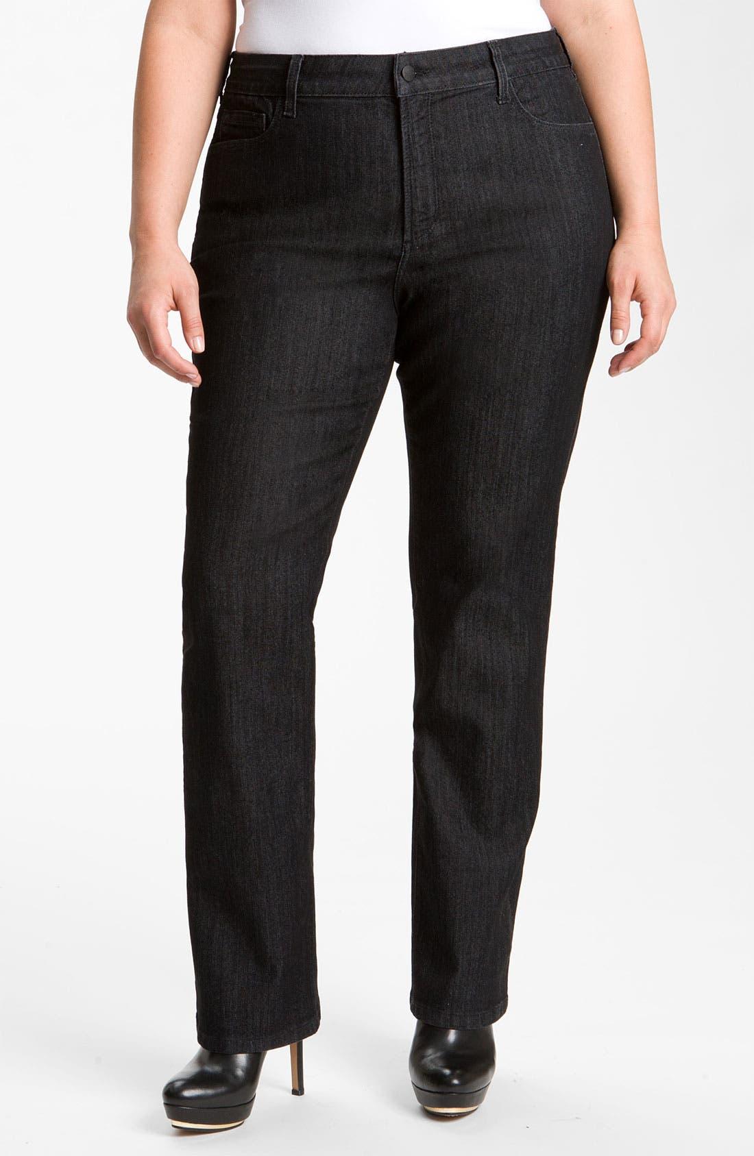 Main Image - NYDJ 'Marilyn' Straight Leg Stretch Jeans (Plus)