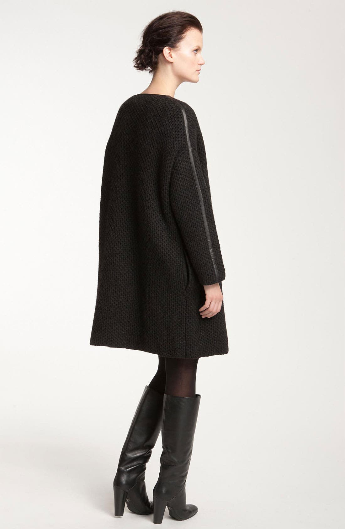 Alternate Image 2  - Vince Leather Trim Wool Coat