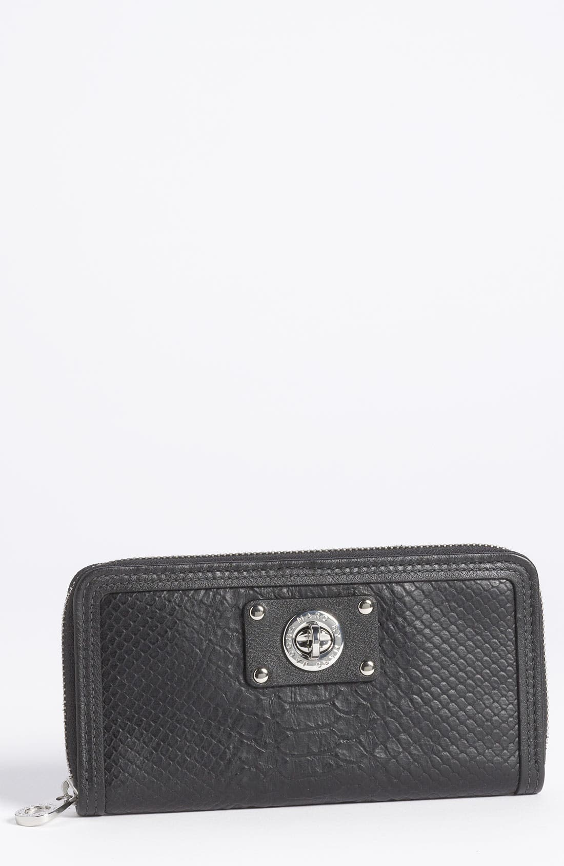 Main Image - MARC BY MARC JACOBS 'Vertical Zippy' Python Embossed Wallet