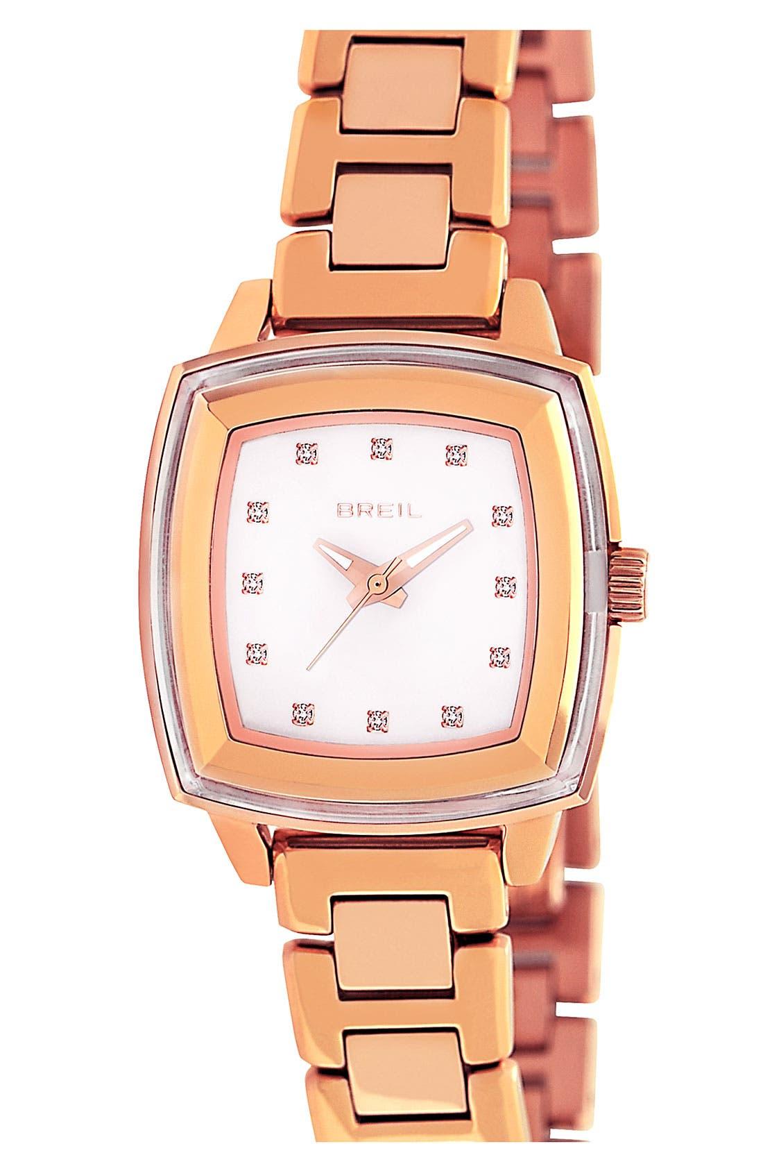 Alternate Image 1 Selected - Breil 'Orchestra' Square Case Bracelet Watch, 29mm x 36mm