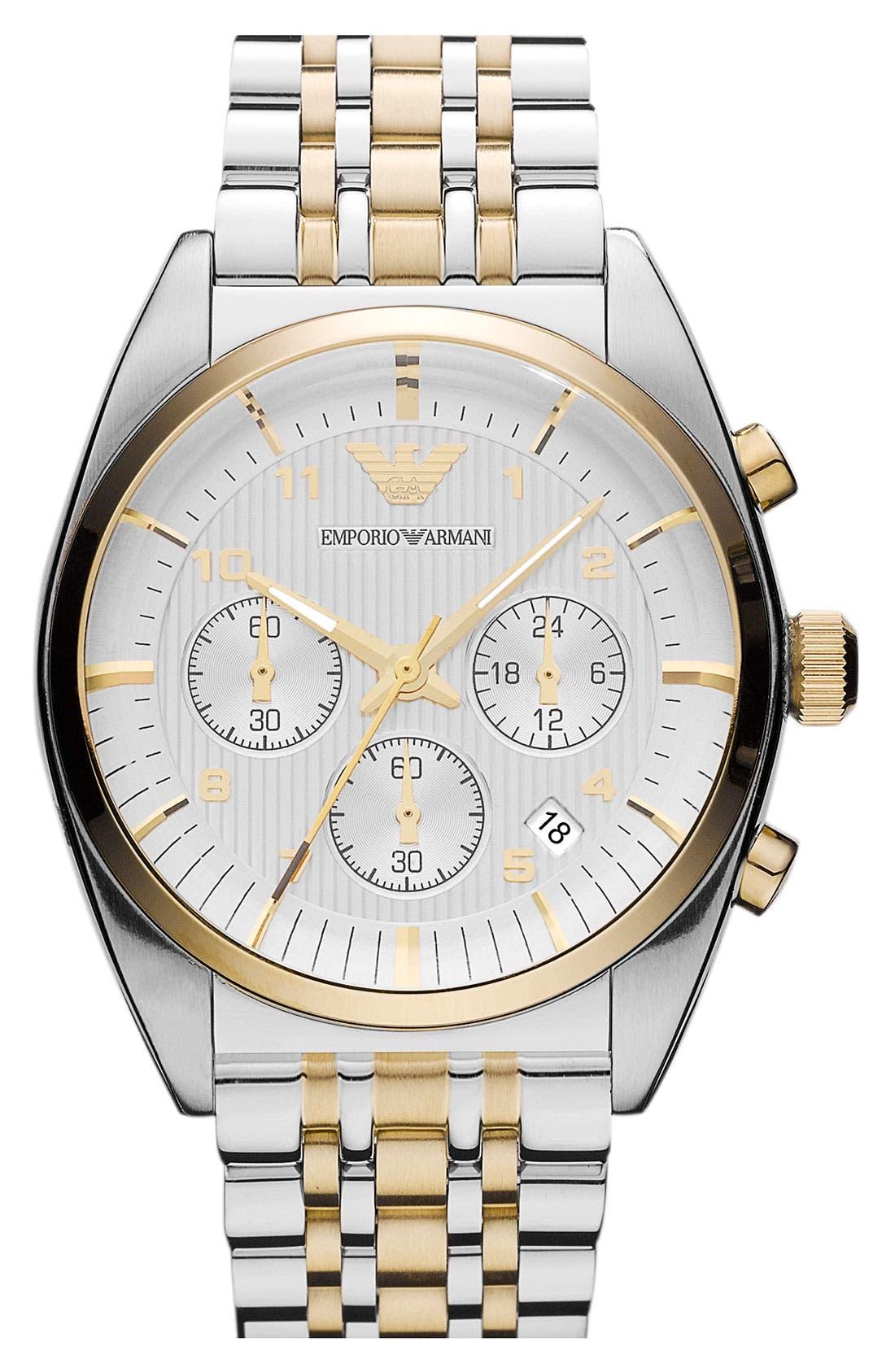 Main Image - Emporio Armani Domed Crystal Bracelet Watch