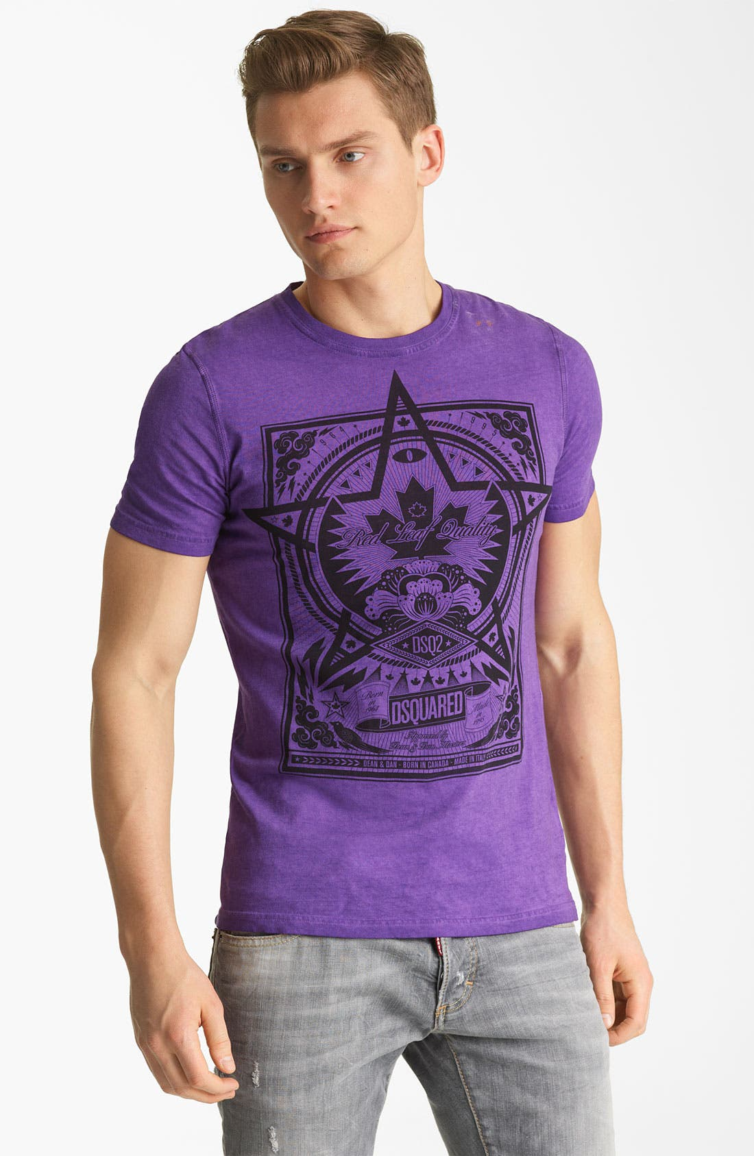 Alternate Image 1 Selected - Dsquared2 'Squared Star' Graphic Crewneck T-Shirt