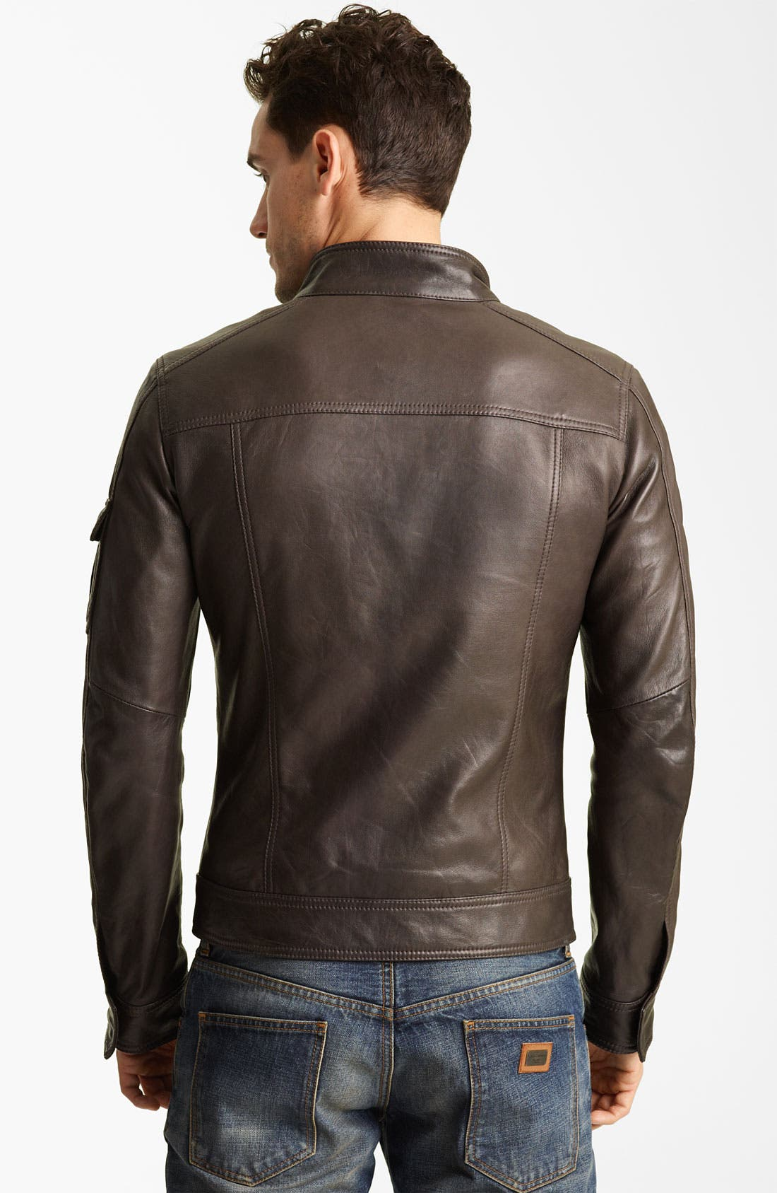 Alternate Image 2  - Dolce&Gabbana Leather Jacket