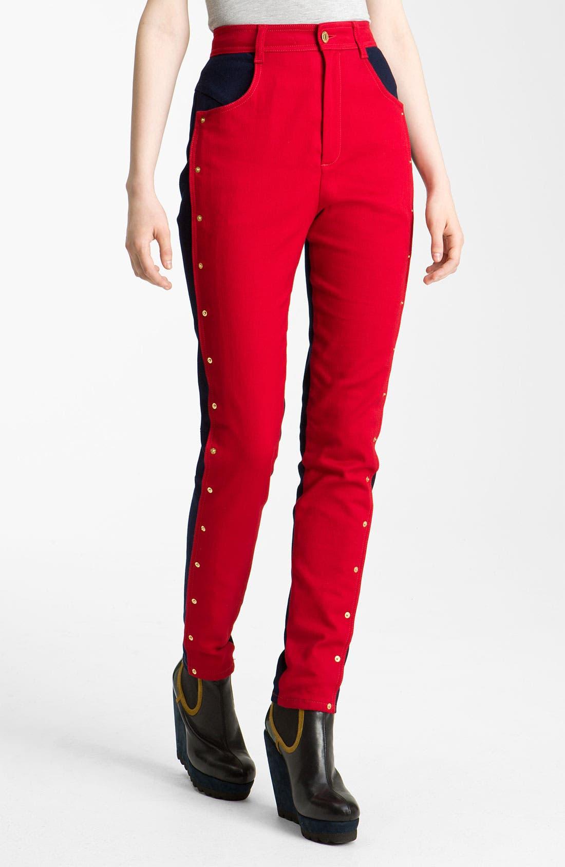 Alternate Image 2  - KENZO Studded Colorblock Jeans