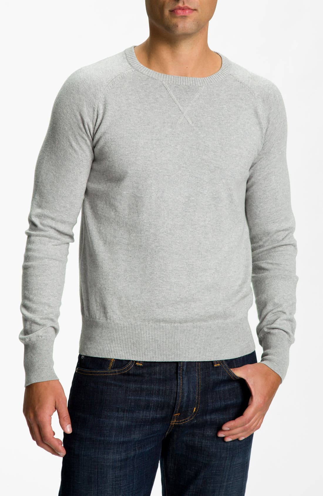 Alternate Image 1 Selected - Façonnable Cotton & Cashmere Sweater