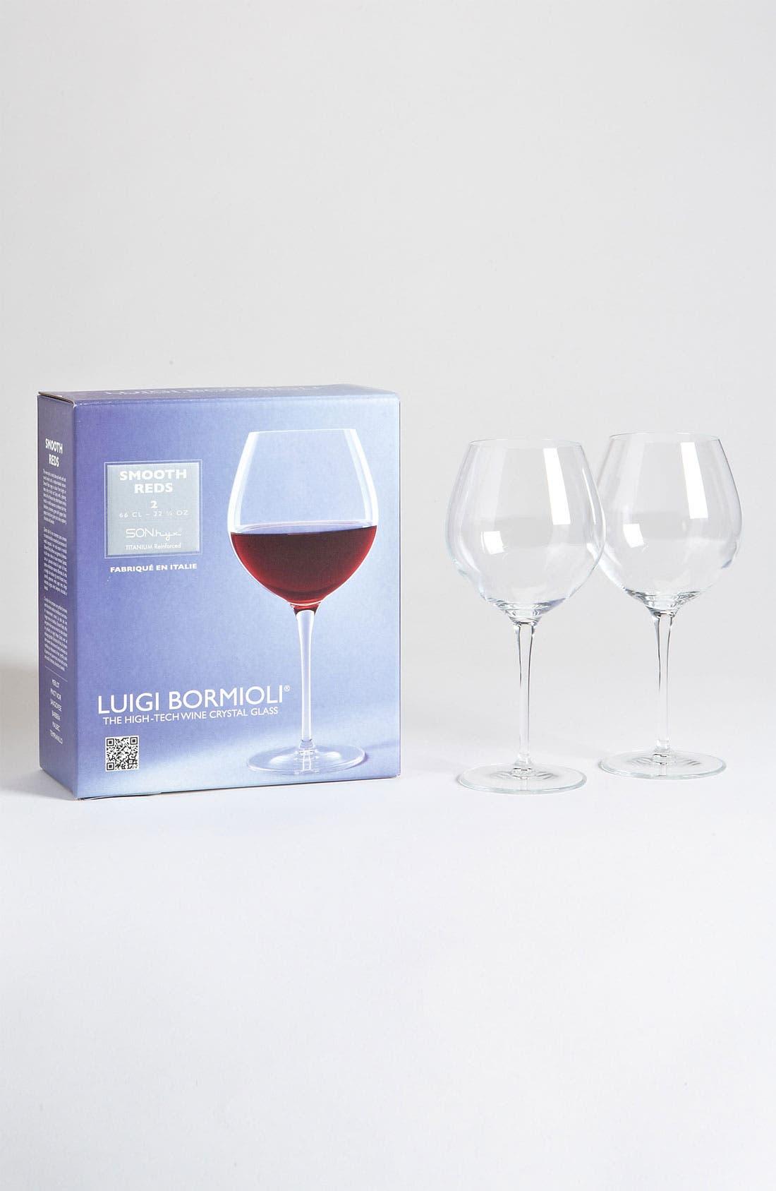 Main Image - Luigi Bormioli 'Wine Profiles Smooth Reds' Wine Glasses (Set of 2)
