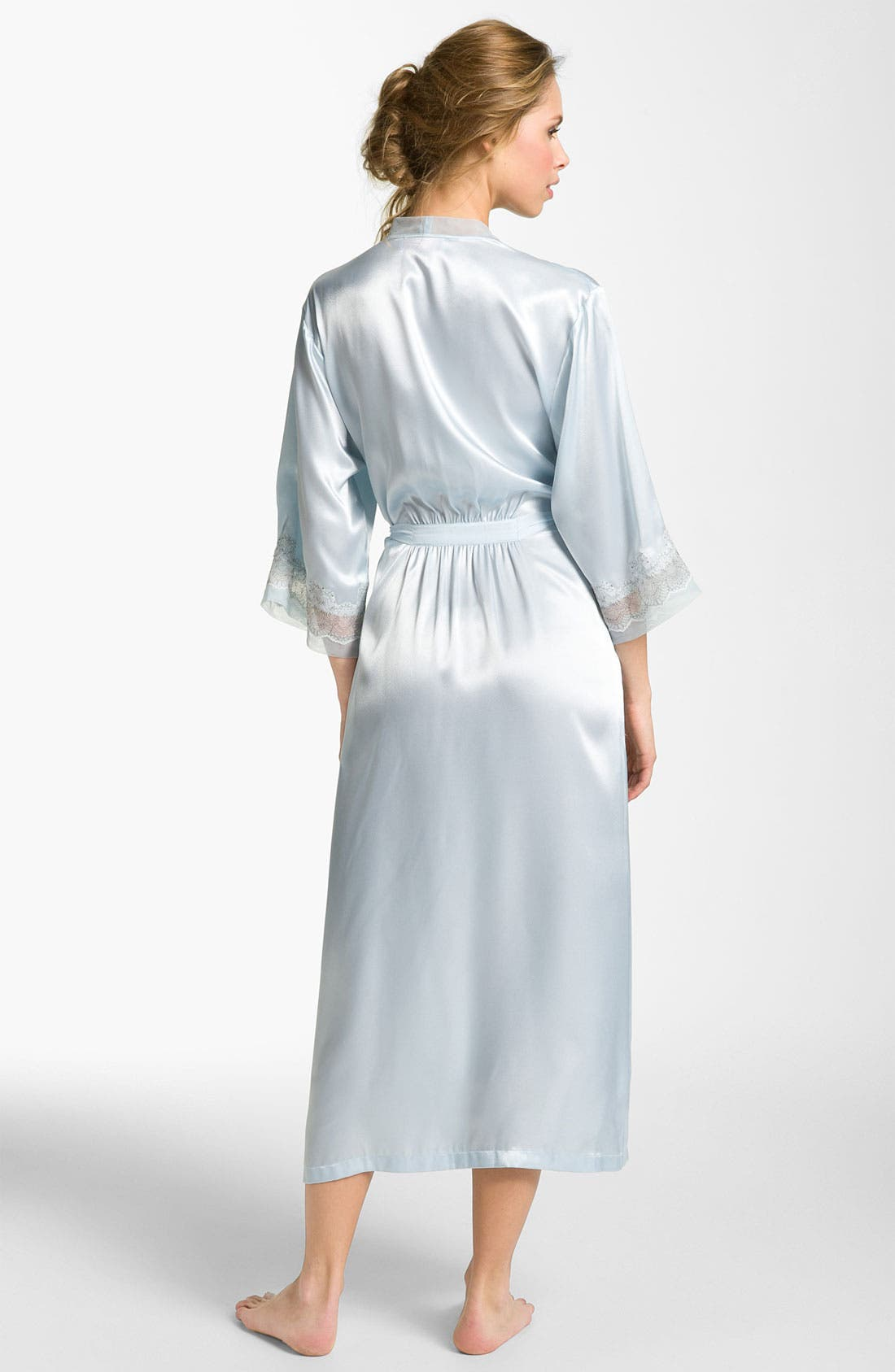 Alternate Image 2  - Oscar de la Renta Sleepwear 'Elegant' Satin Robe
