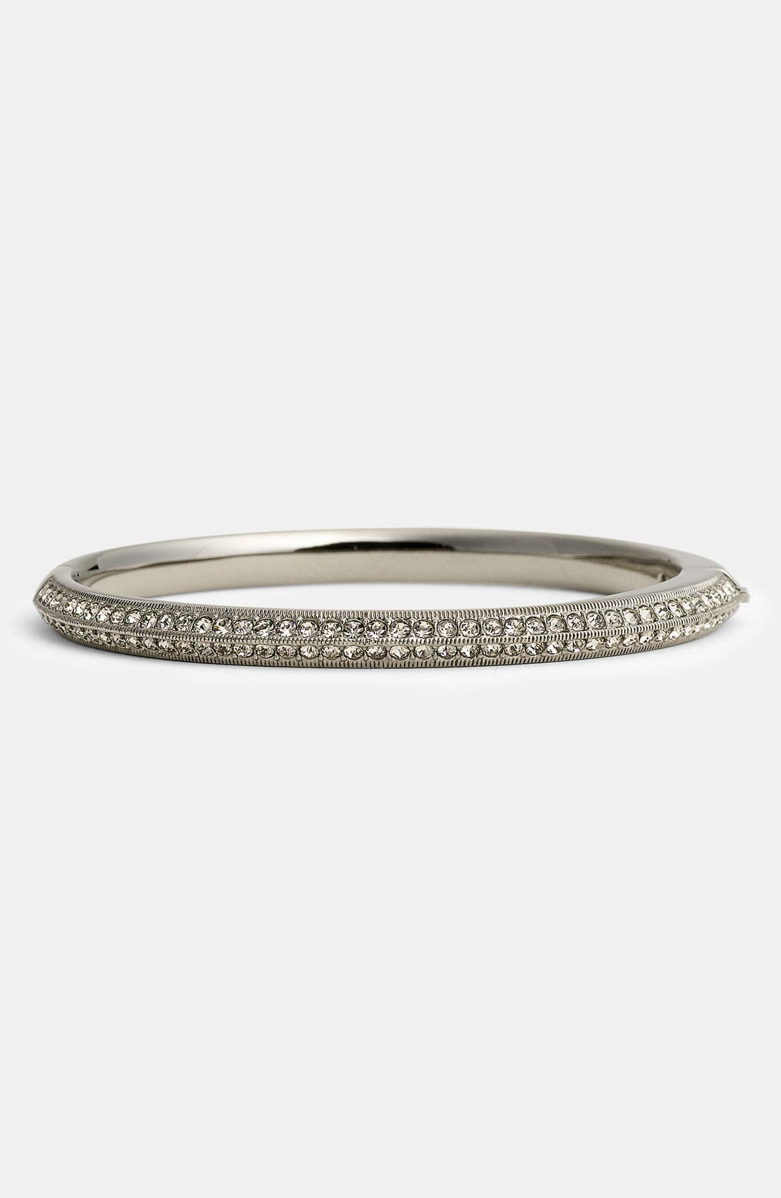 Main Image - Nadri Slim Pavé Crystal Hinged Bangle (Nordstrom Exclusive)