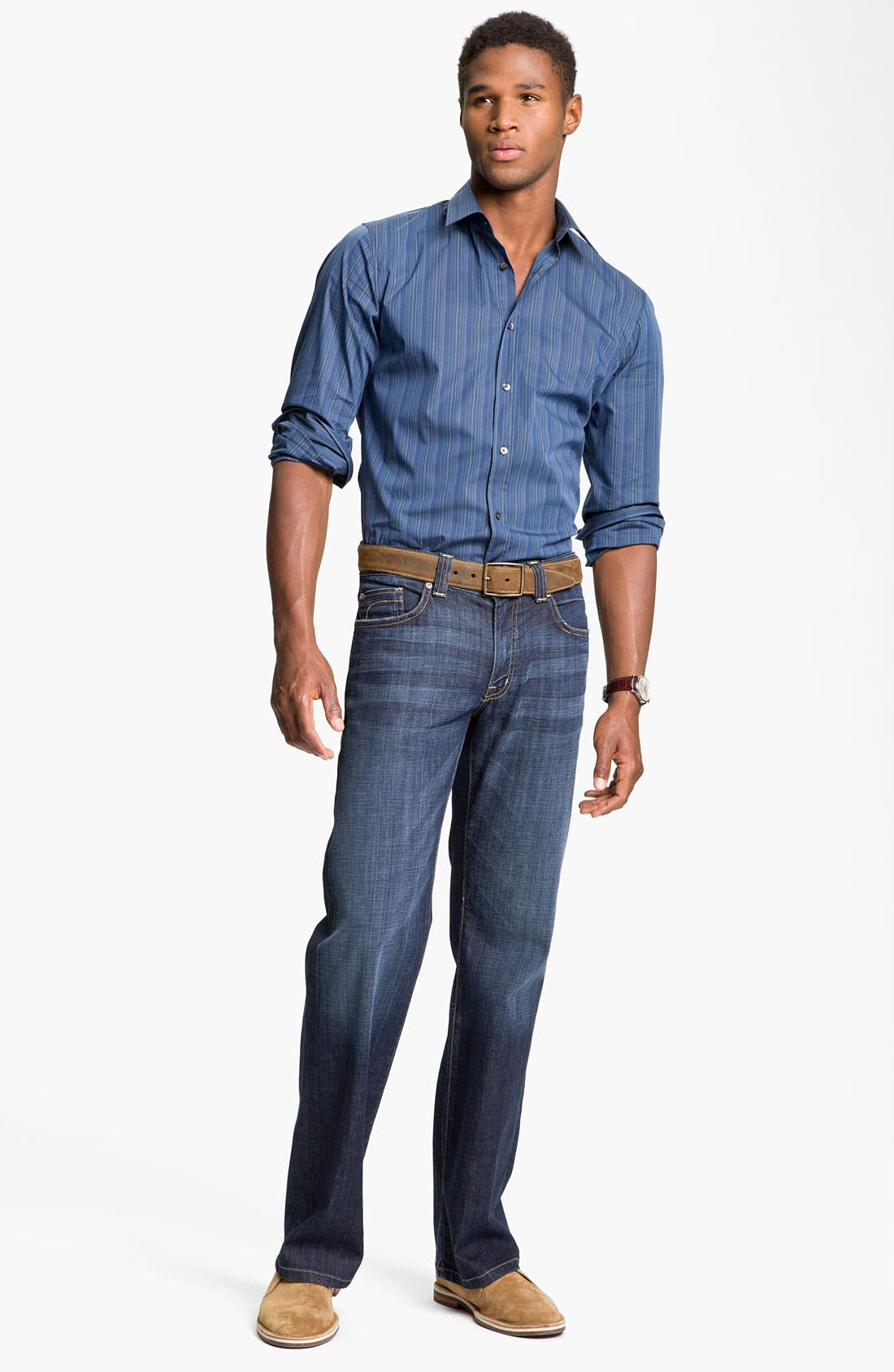 Alternate Image 5  - Fidelity Denim 'Camino' Relaxed Leg Jeans (Generation Blue)