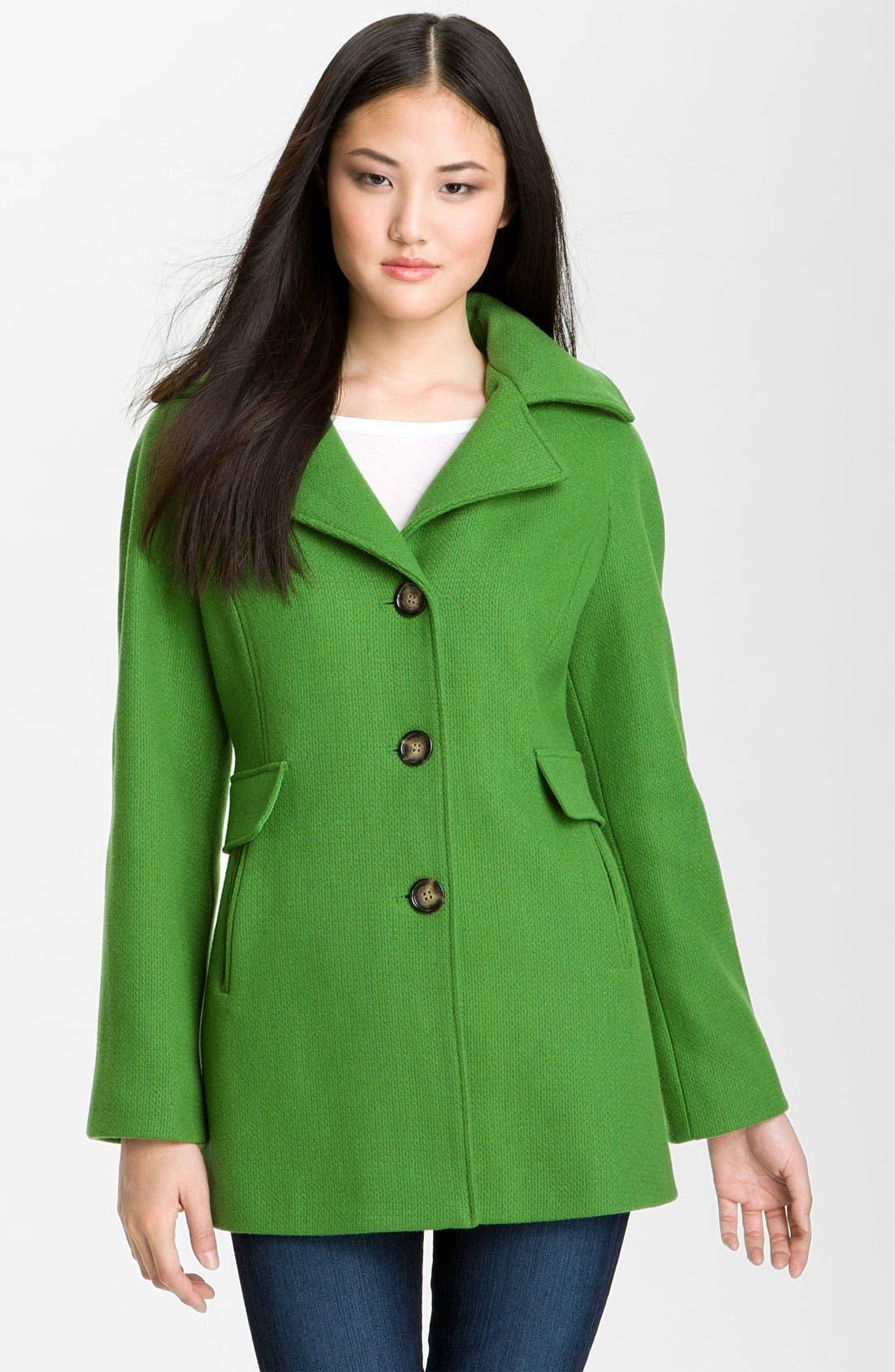 Alternate Image 1 Selected - Calvin Klein Single Breasted Coat