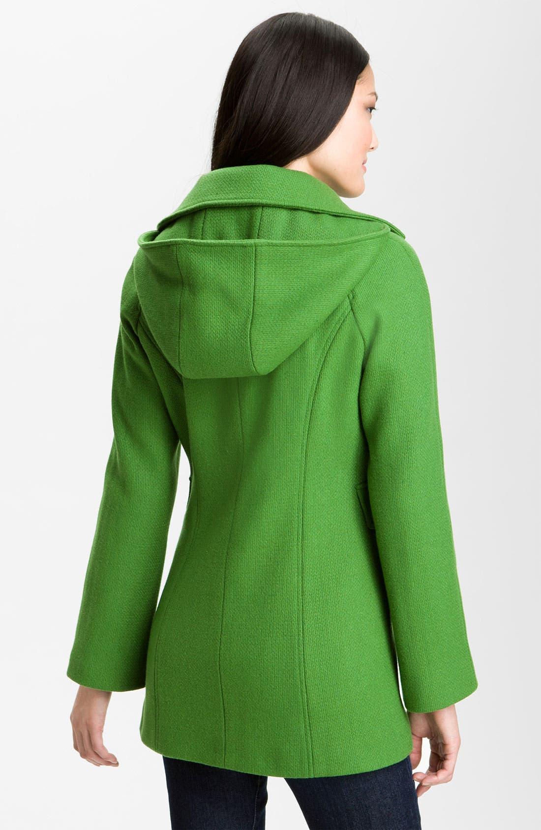 Alternate Image 2  - Calvin Klein Single Breasted Coat