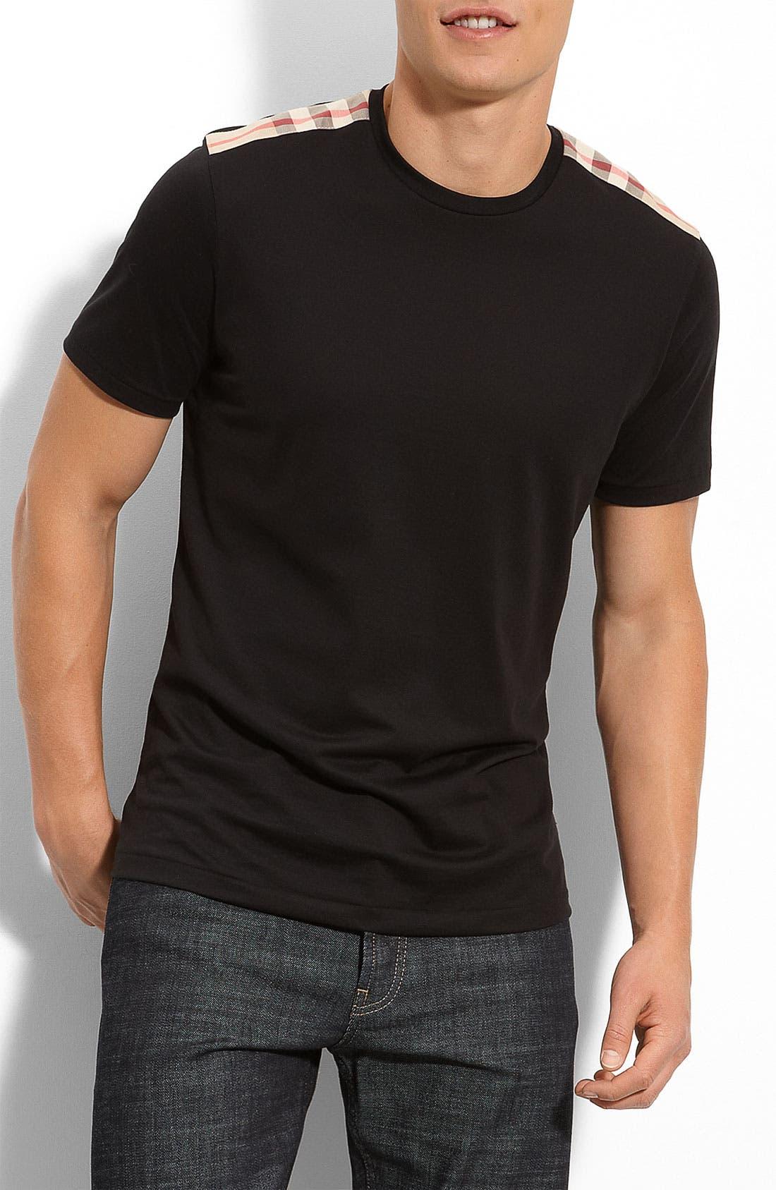 Main Image - Burberry Brit Check Trim Fit T-Shirt