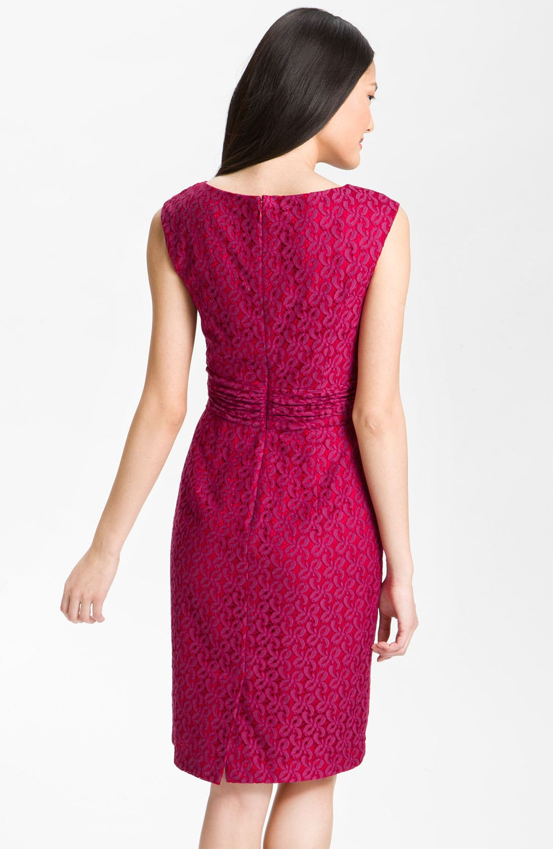 Alternate Image 2  - Adrianna Papell Empire Waist Lace Sheath Dress