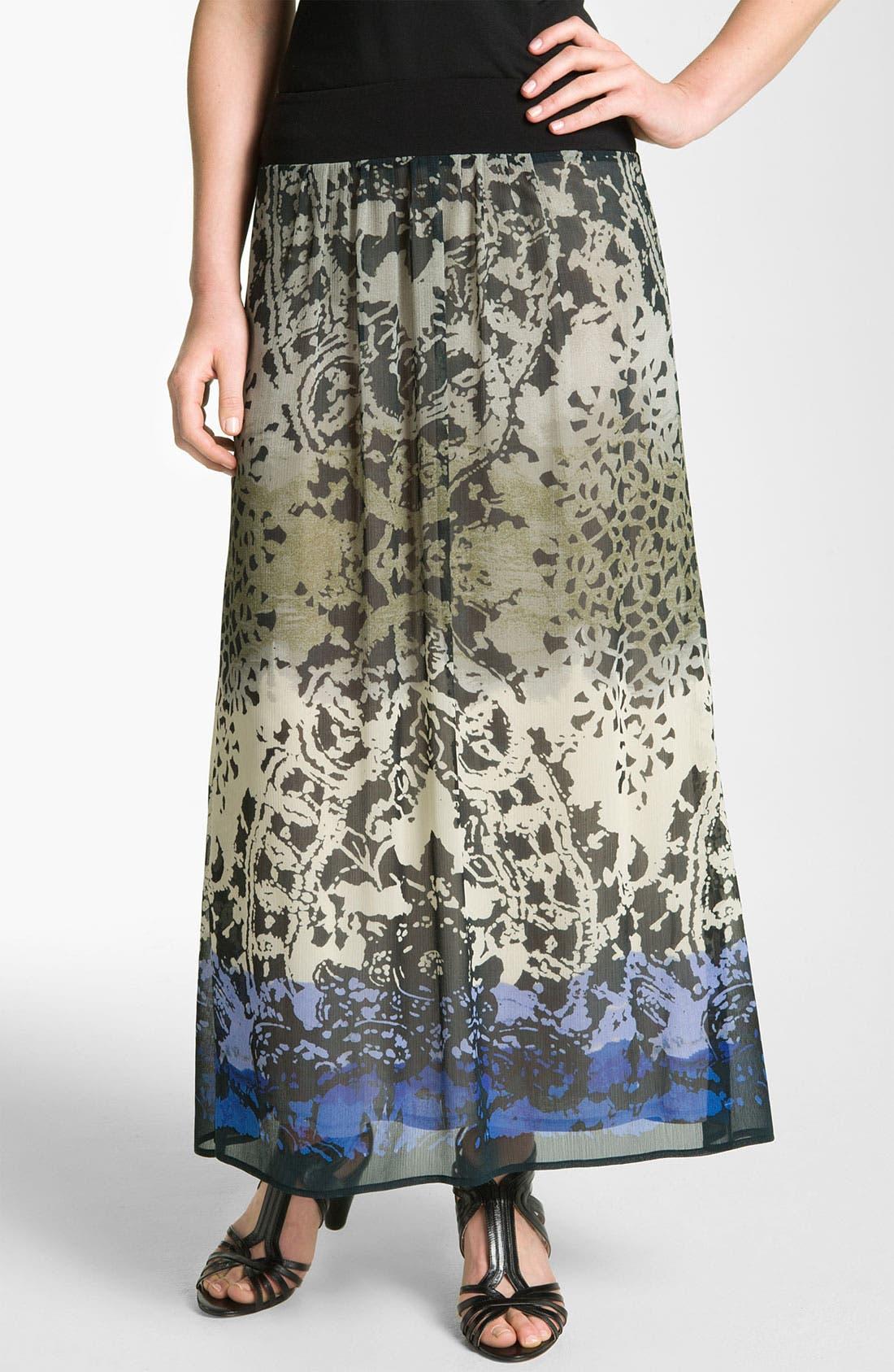 Main Image - Nic + Zoe Ombré Print Maxi Skirt