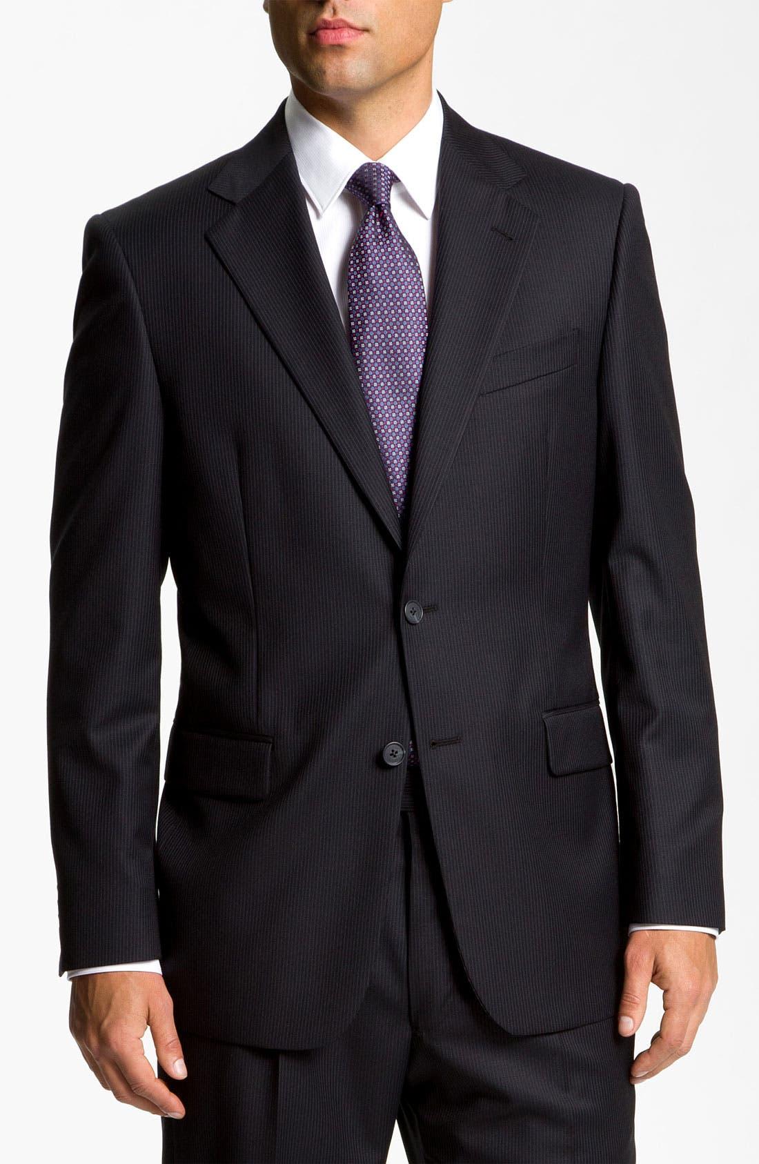 Main Image - Joseph Abboud 'Signature Silver' Pinstripe Suit