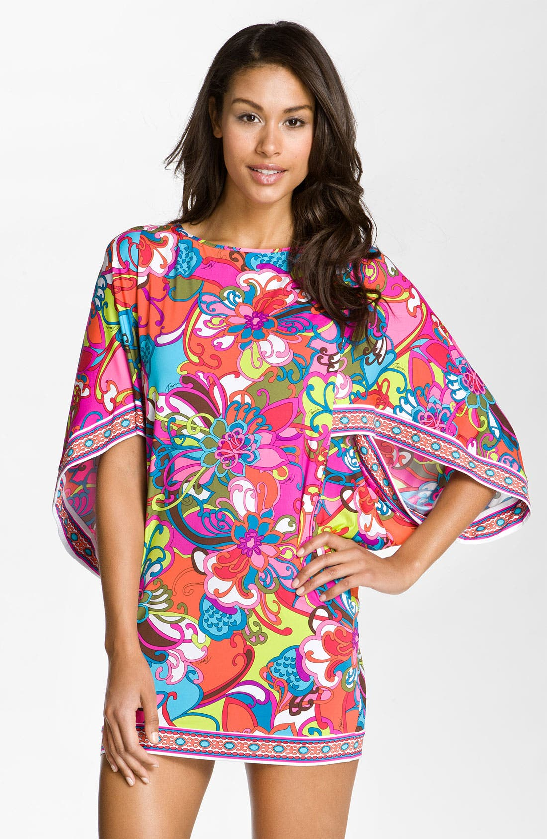 Alternate Image 1 Selected - Trina Turk 'Fiji Flower' Tunic Cover-Up