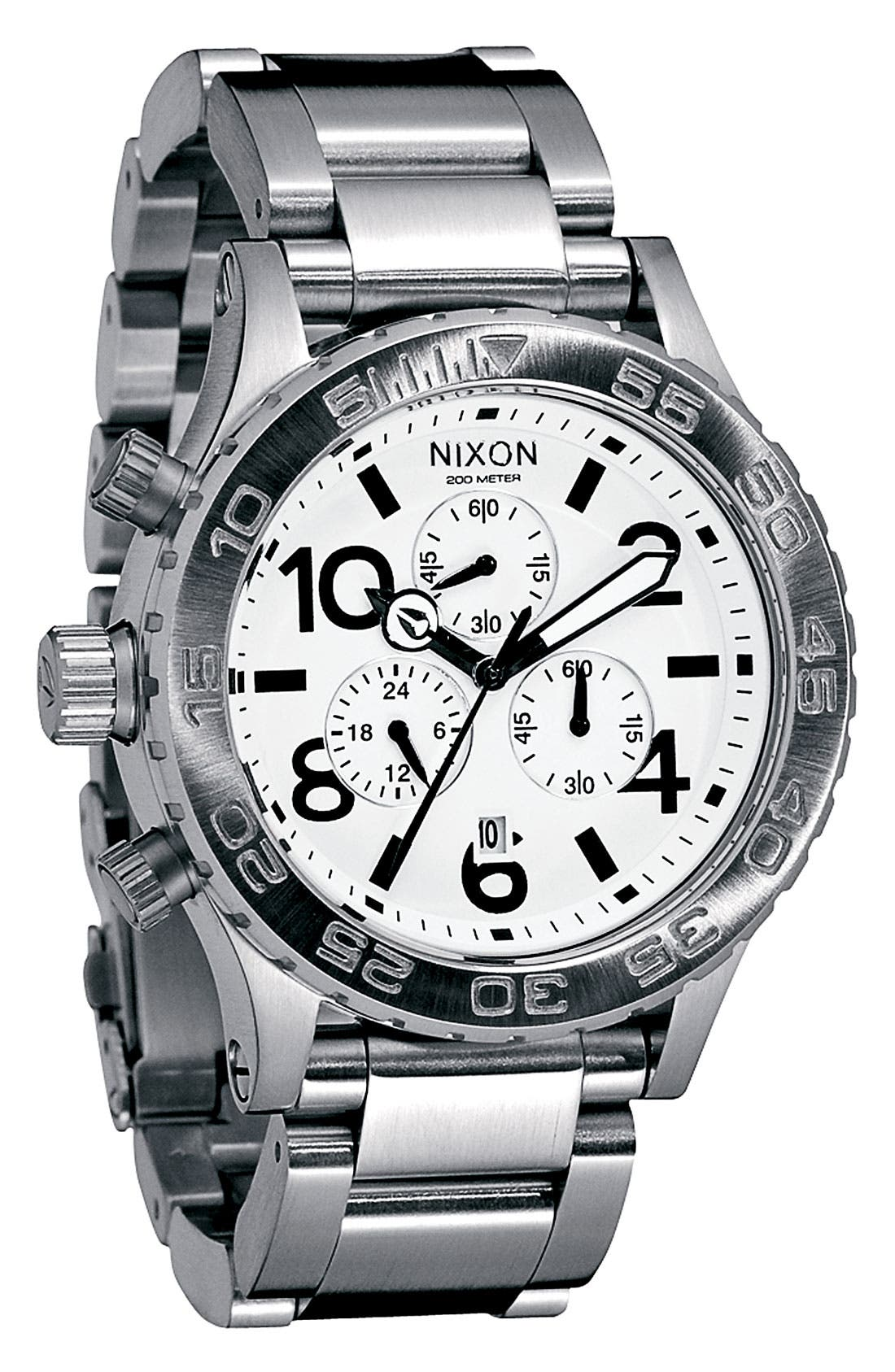 Alternate Image 1 Selected - Nixon 'The 42-20 Chrono' Watch, 42mm
