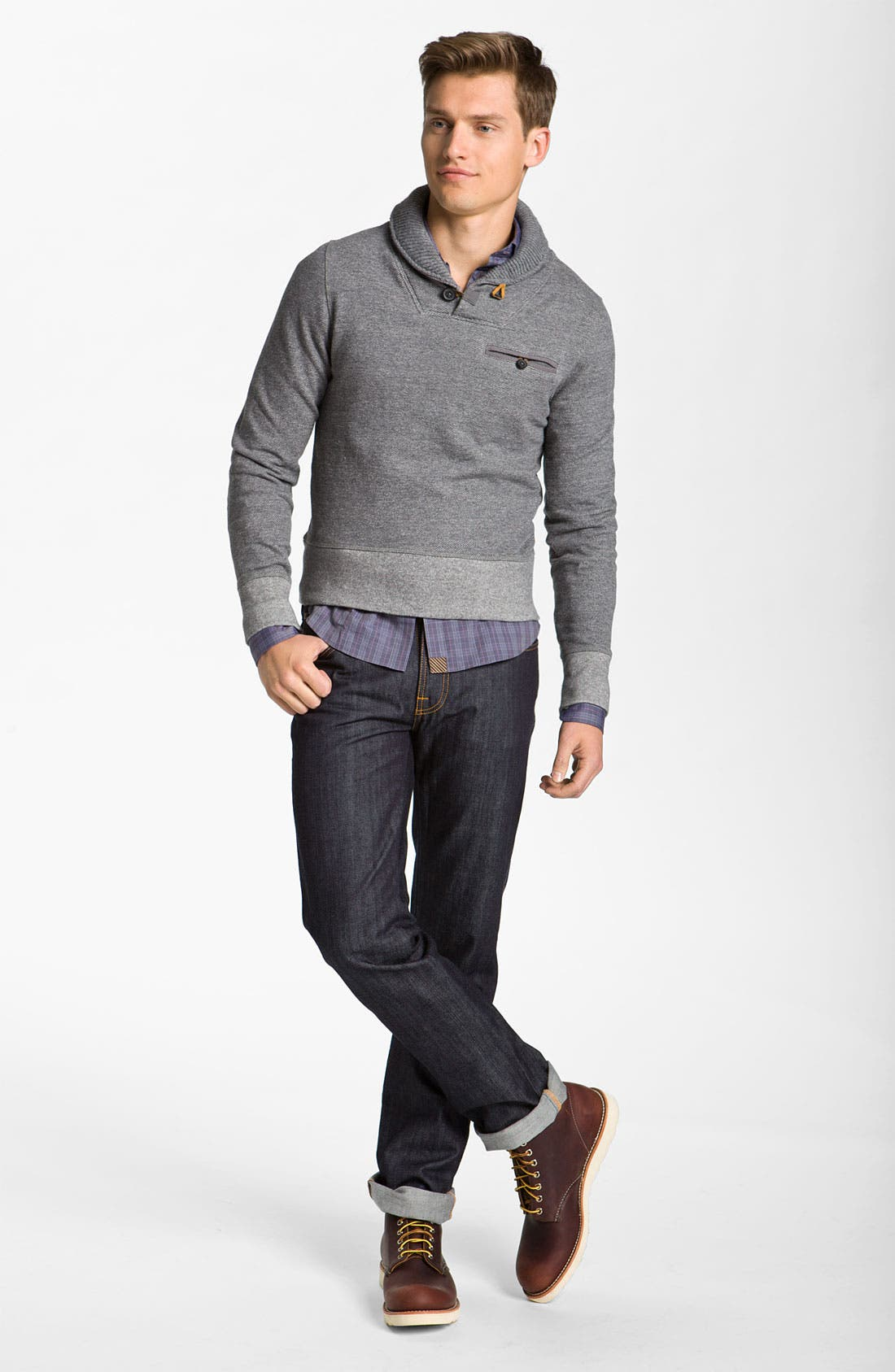 Alternate Image 5  - Billy Reid 'Shiloh' Shawl Collar Pullover