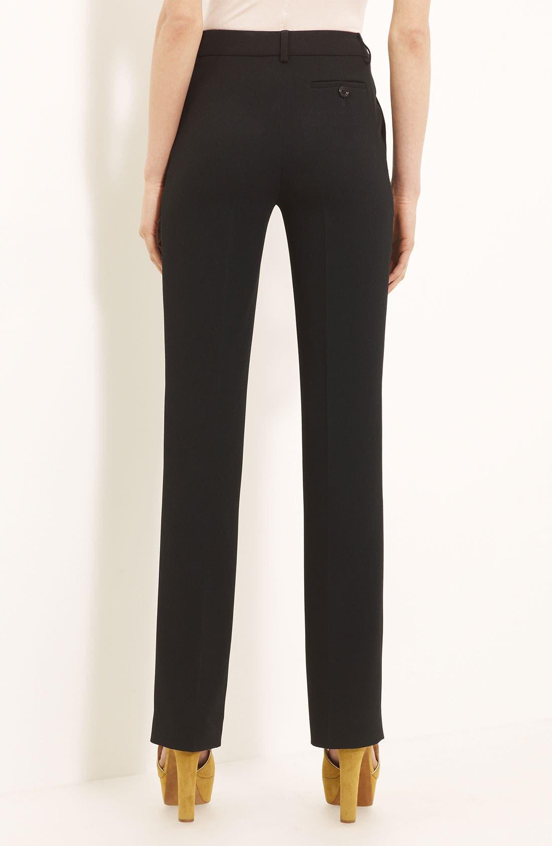 Alternate Image 2  - Moschino Cheap & Chic Slim Crepe Trousers