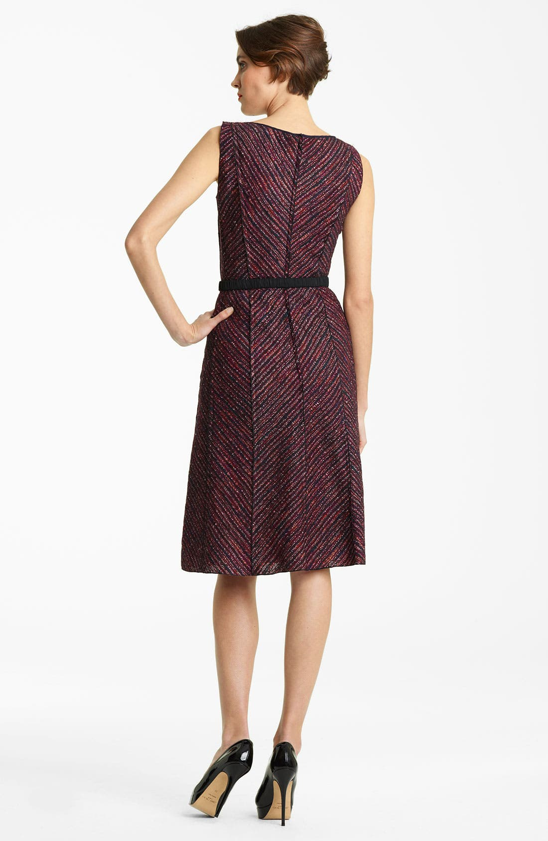 Alternate Image 2  - Nina Ricci Belted A-line Tweed Dress
