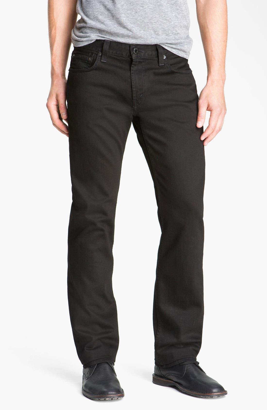 Alternate Image 1  - J Brand 'Kane' Slim Straight Leg Jeans (Phantom Black)
