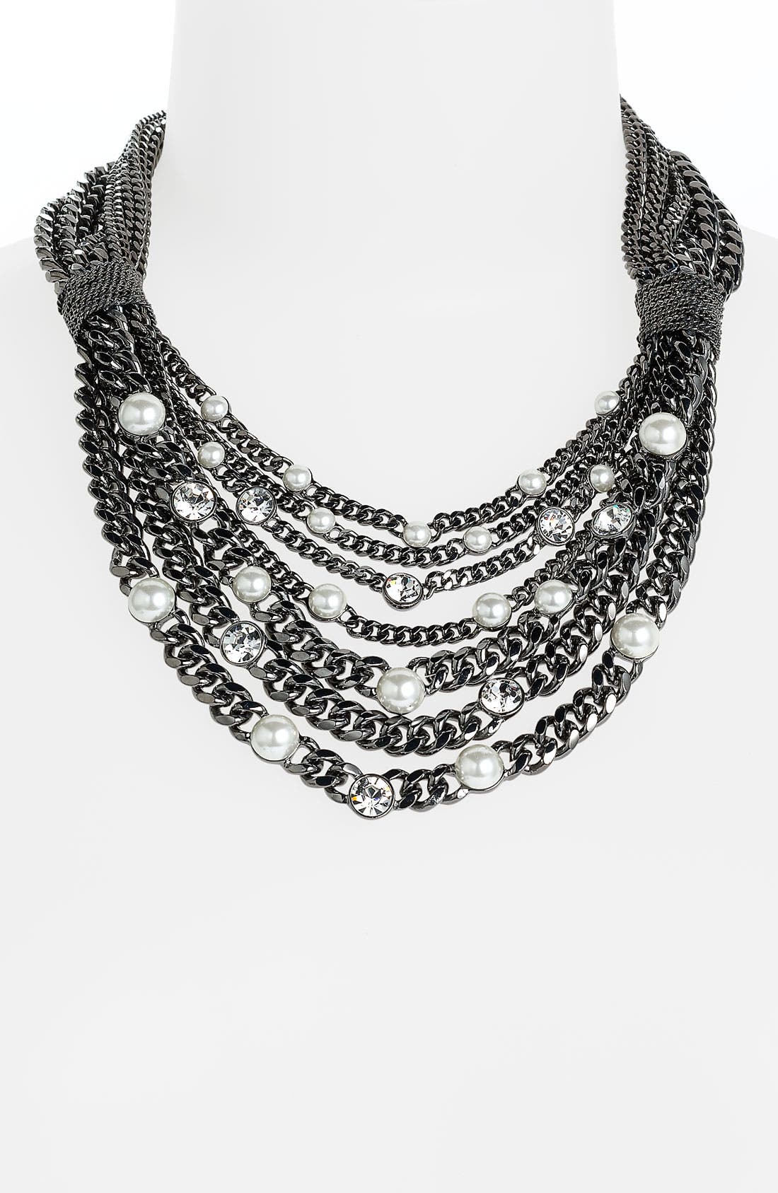 Alternate Image 1 Selected - Givenchy Glass Pearl Bib Statement Necklace