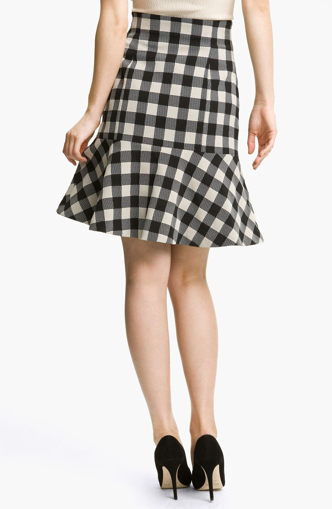 Alternate Image 2  - Tracy Reese Gingham Flare Skirt