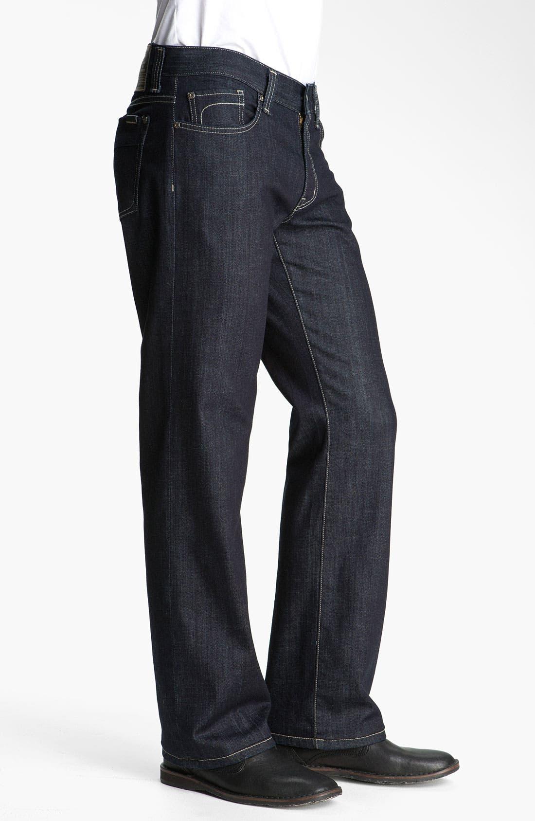 Alternate Image 3  - Fidelity Denim 'Camino' Relaxed Leg Jeans (Pacific Dark)