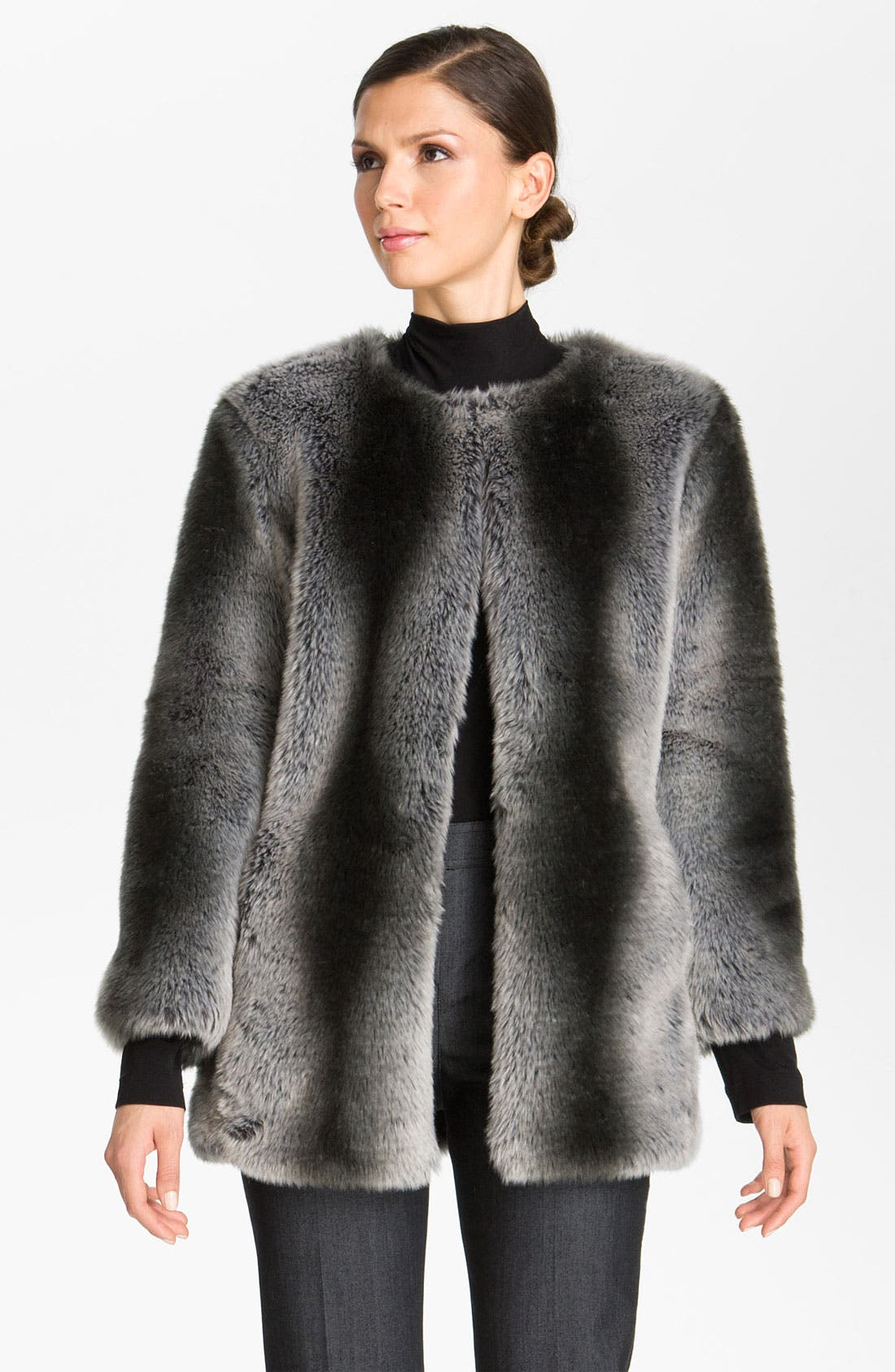 Alternate Image 2  - St. John Collection Faux Fur Coat (Nordstrom Exclusive)