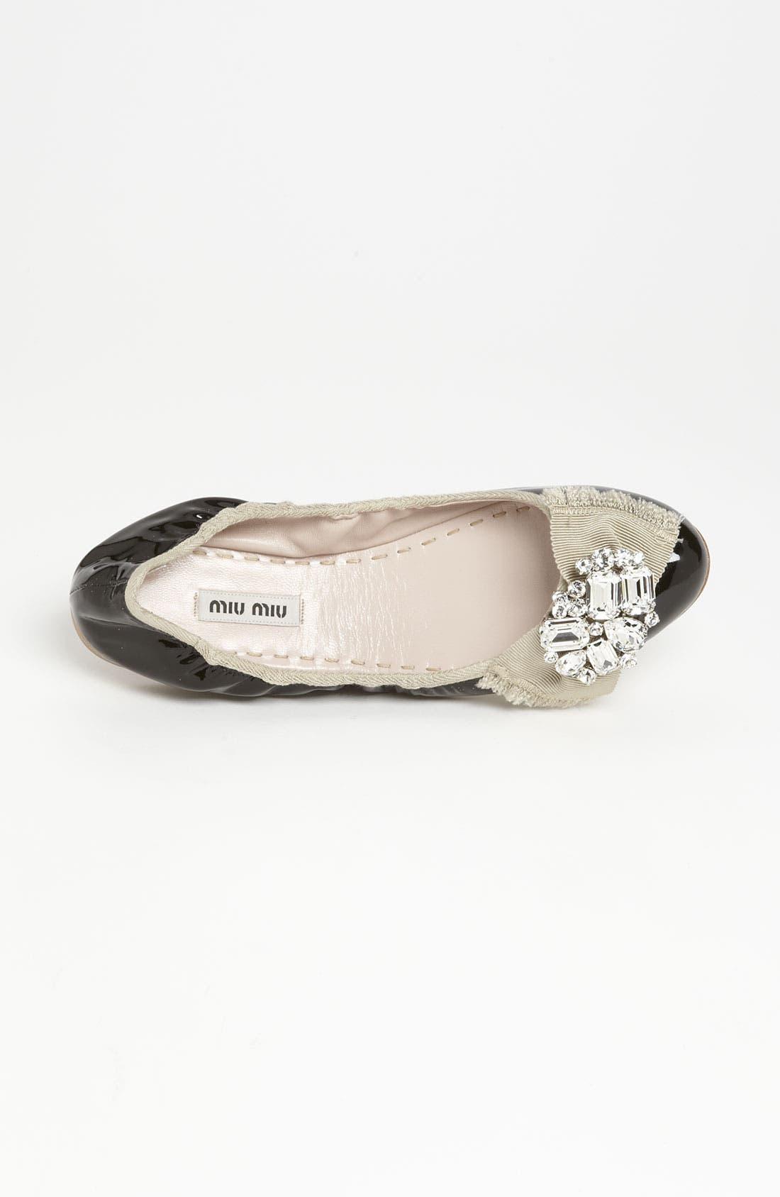 Alternate Image 3  - Miu Miu 'Crystal Bow' Ballerina Flat