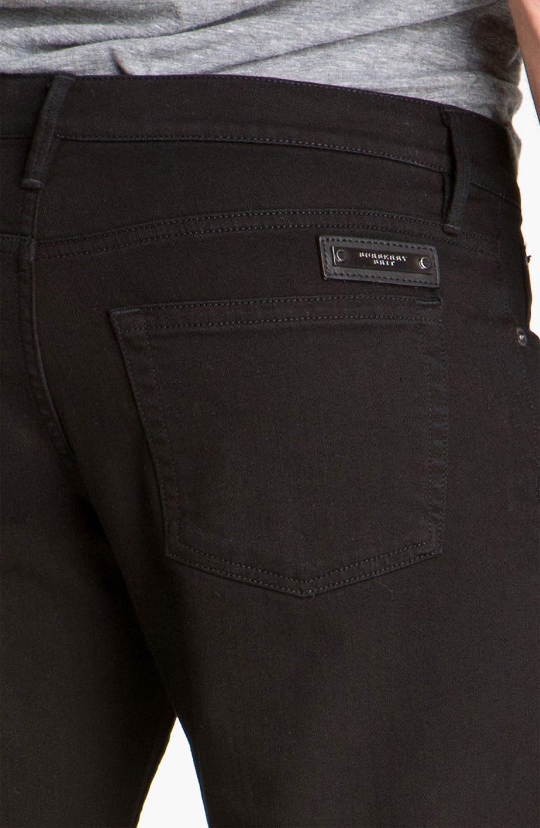 Alternate Image 4  - Burberry Brit Stretch Denim Jeans (Clean Black)
