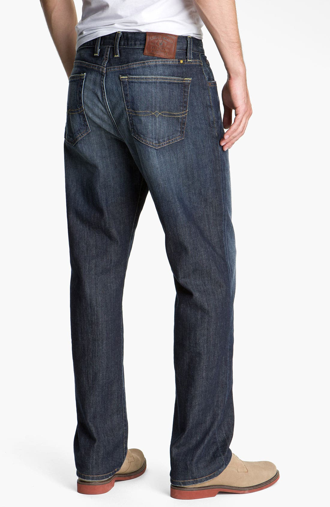 Alternate Image 1  - Lucky Brand '329' Classic Straight Leg Jeans (Ol' Lipservice)