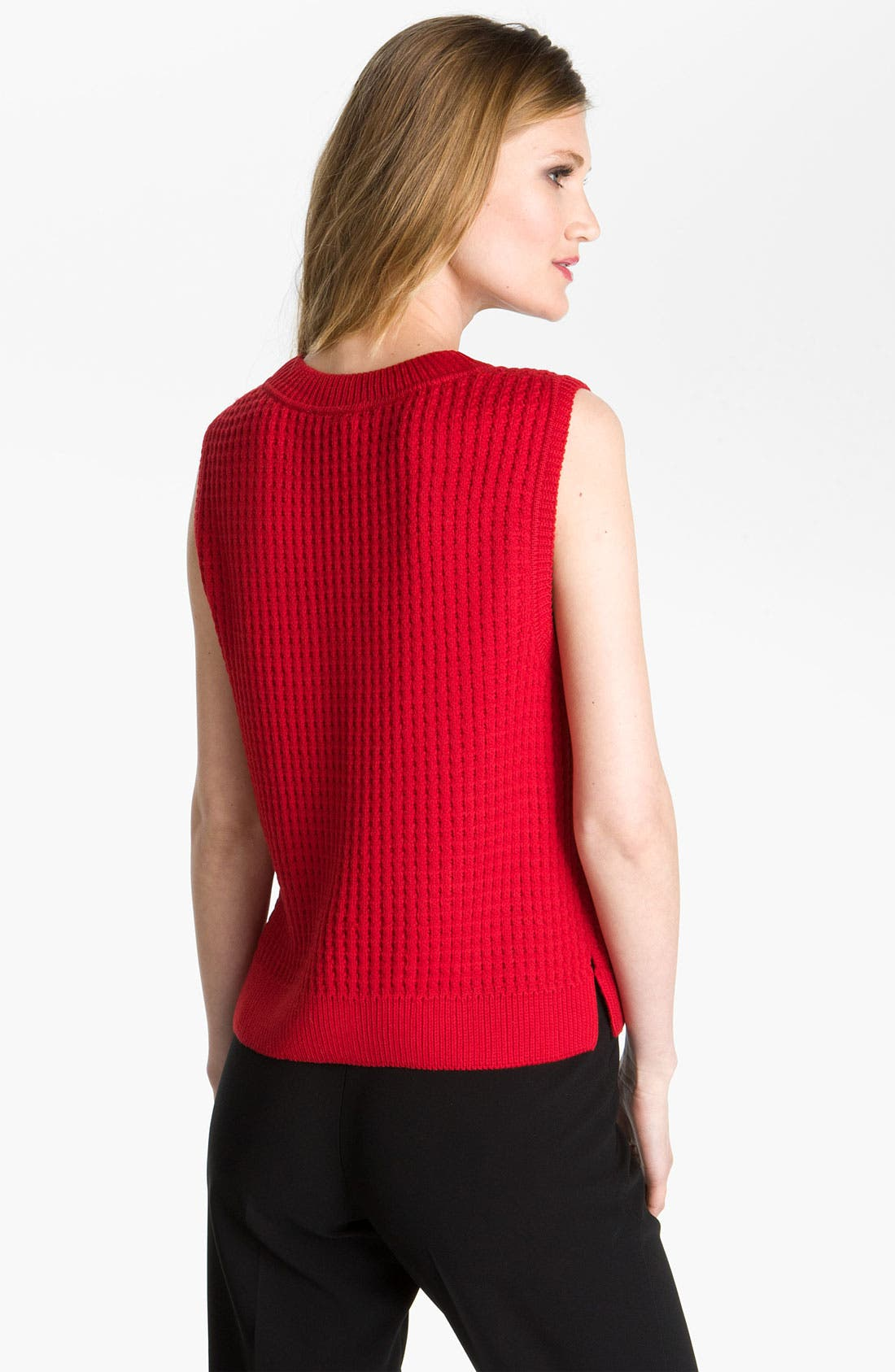Alternate Image 2  - St. John Yellow Label Boxy Cable Knit Sweater