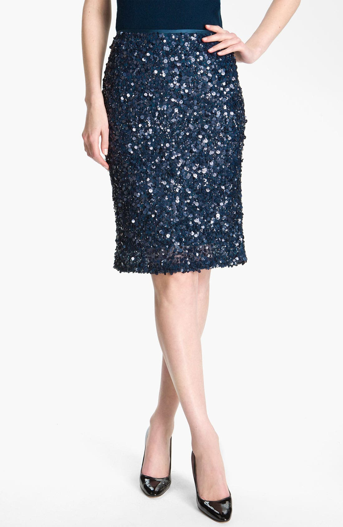 Alternate Image 2  - St. John Collection Sequin Pencil Skirt