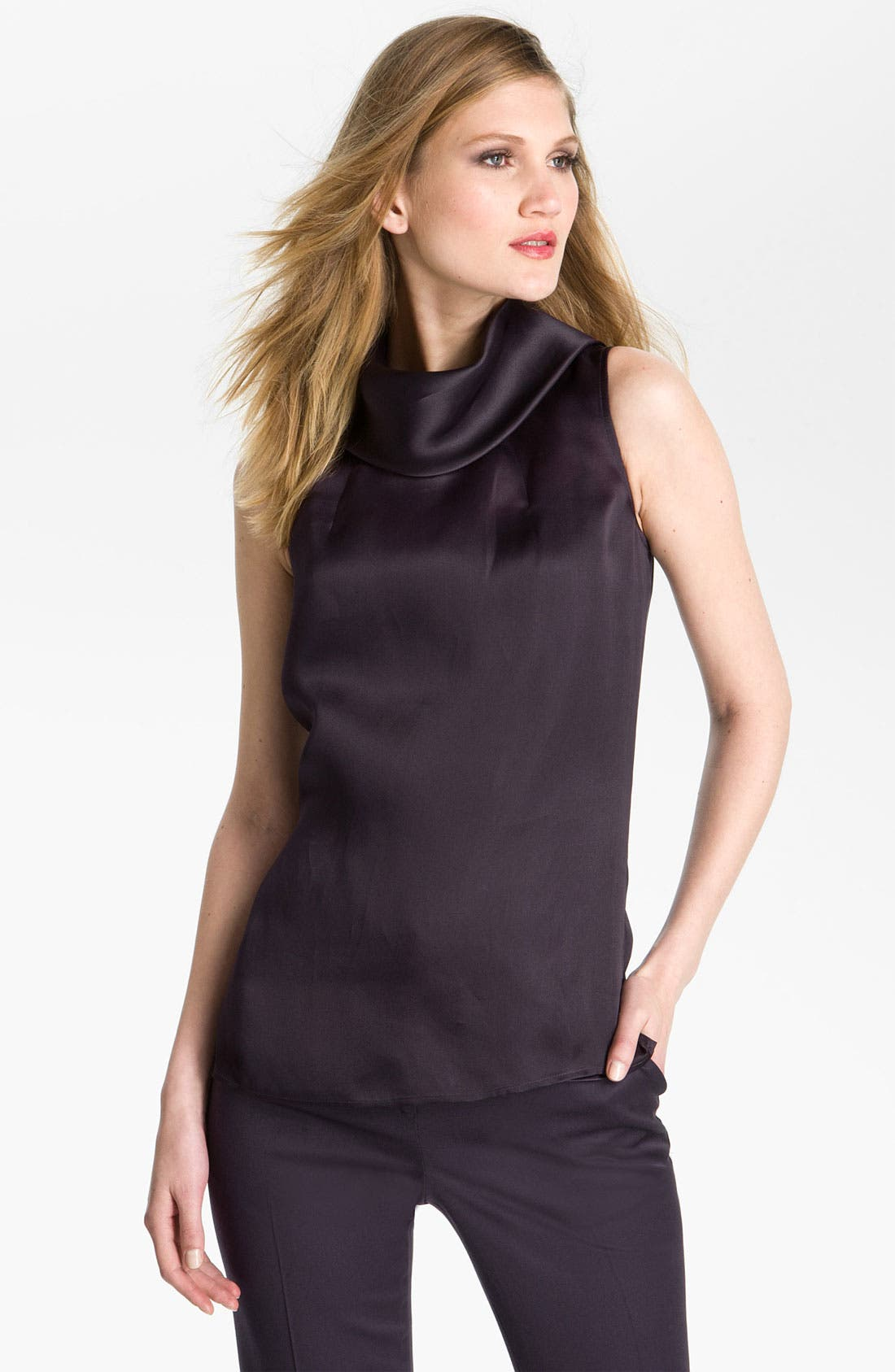Main Image - St. John Collection Satin Organza Blouse & Camisole