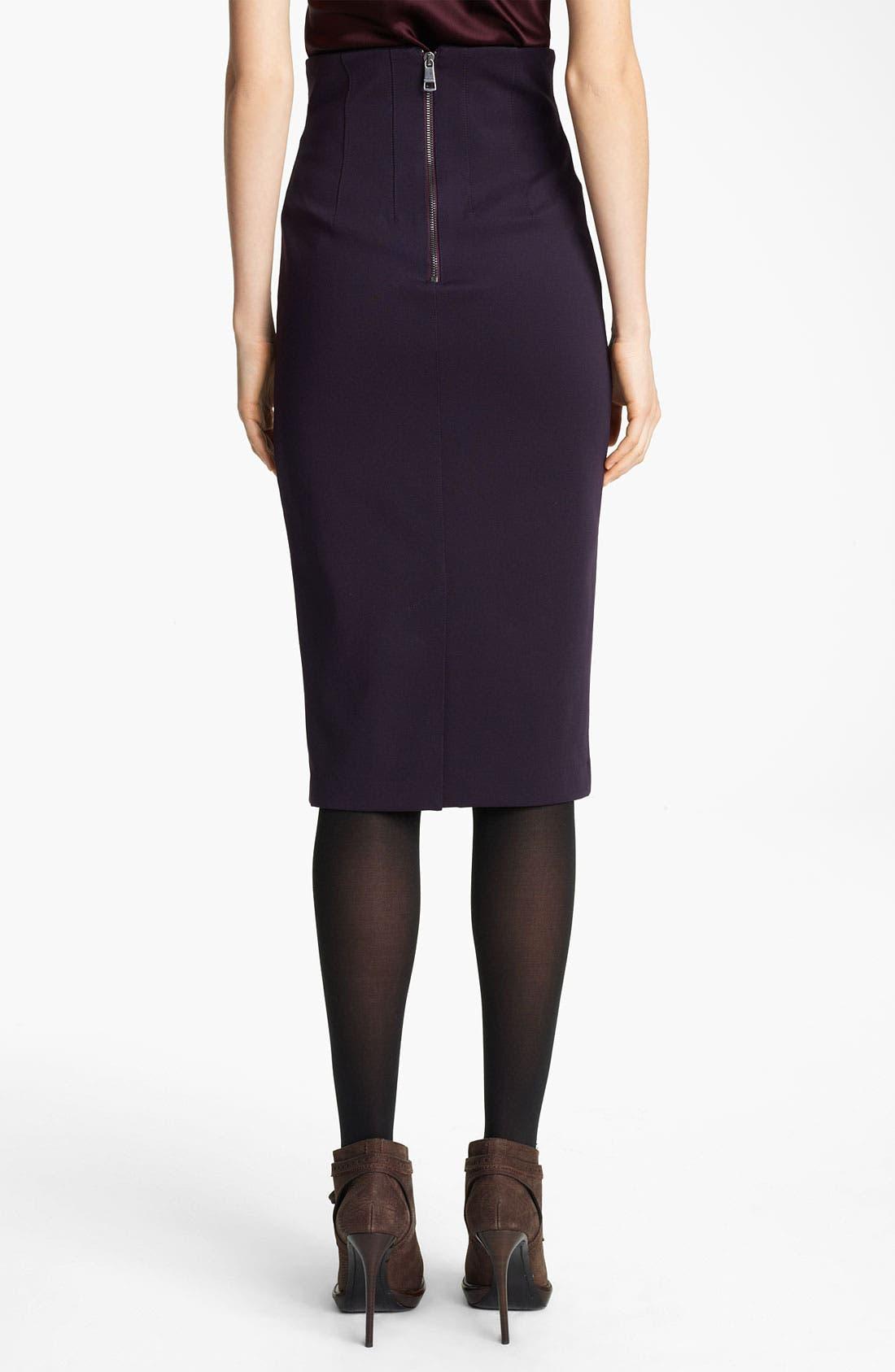 Alternate Image 2  - Burberry London Jersey Skirt