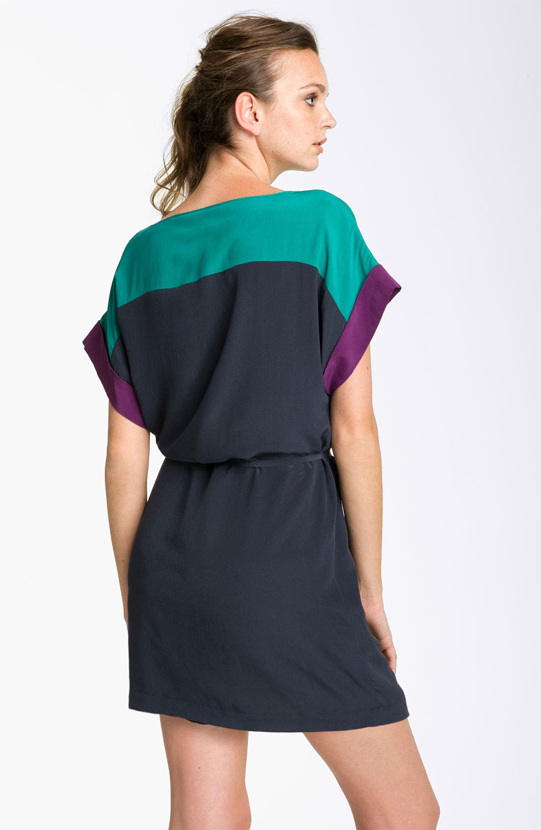 Alternate Image 2  - French Connection Colorblock Silk Shift Dress