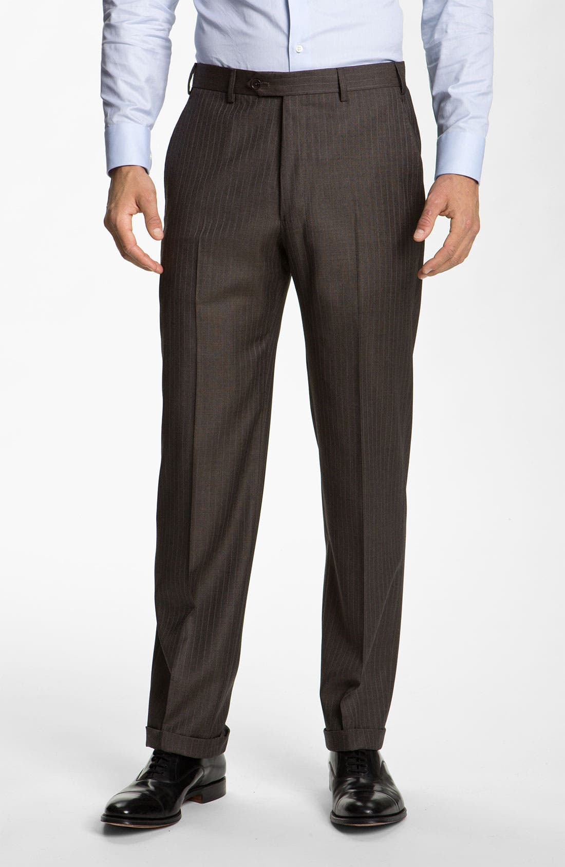Alternate Image 4  - Armani Collezioni Stripe Wool Suit