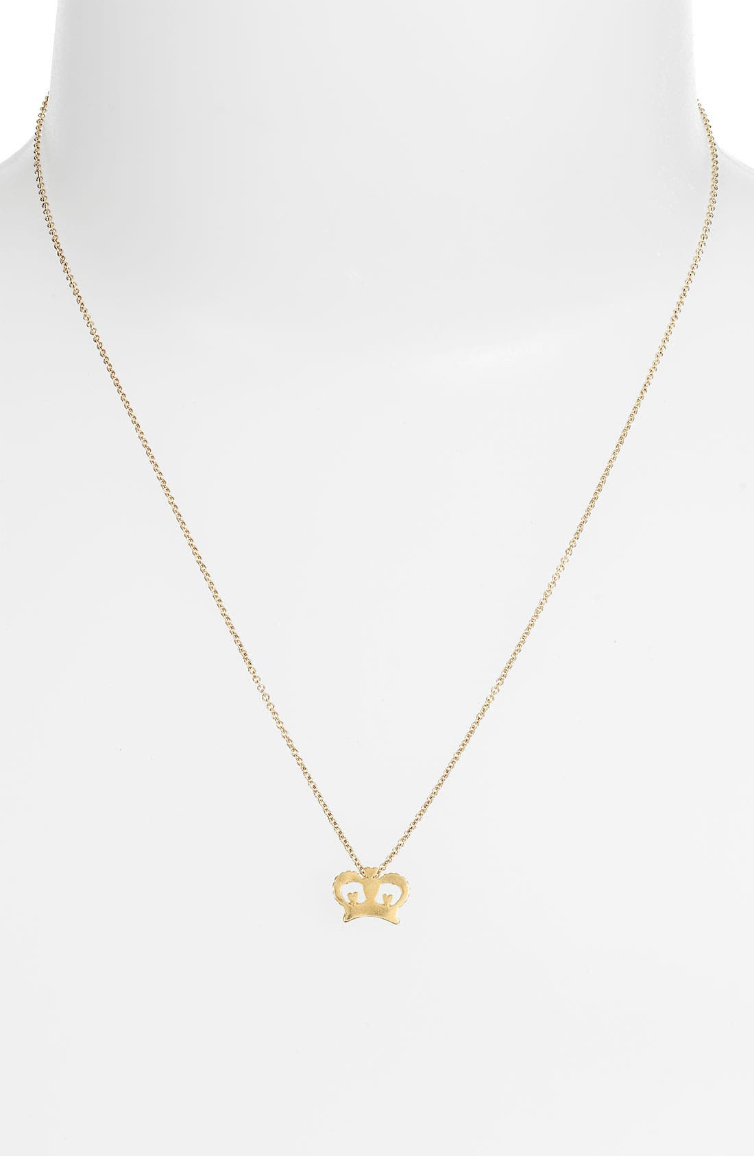 Alternate Image 2  - Dogeared 'Daddy's Girl - Crown' Pendant Necklace (Nordstrom Exclusive)