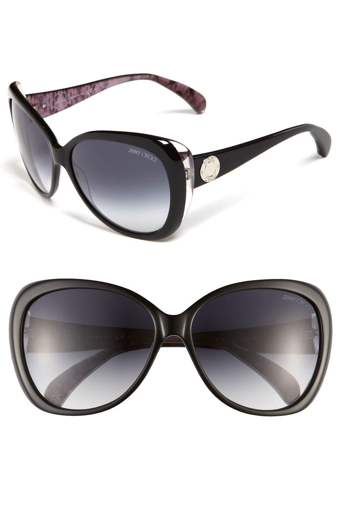 Alternate Image 1 Selected - Jimmy Choo 'Julie' Cat's Eye Sunglasses