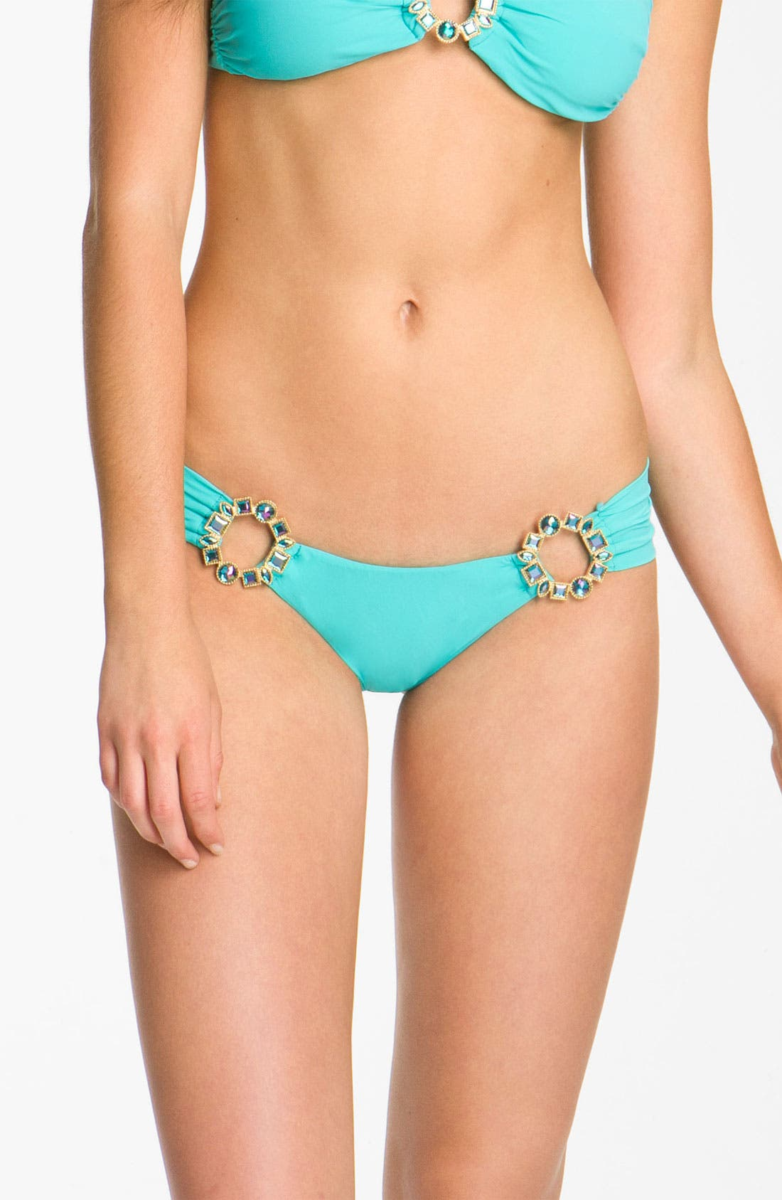 Main Image - Beach Bunny 'Show & Tell' Jeweled Hipster Bikini Bottoms