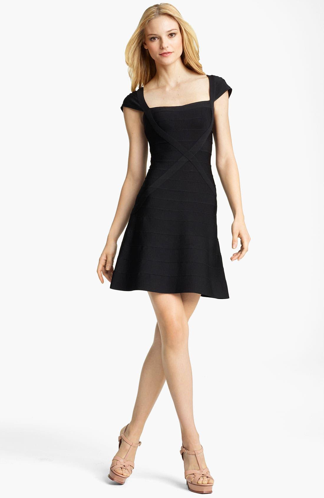 Main Image - Herve Leger A-Line Bandage Dress